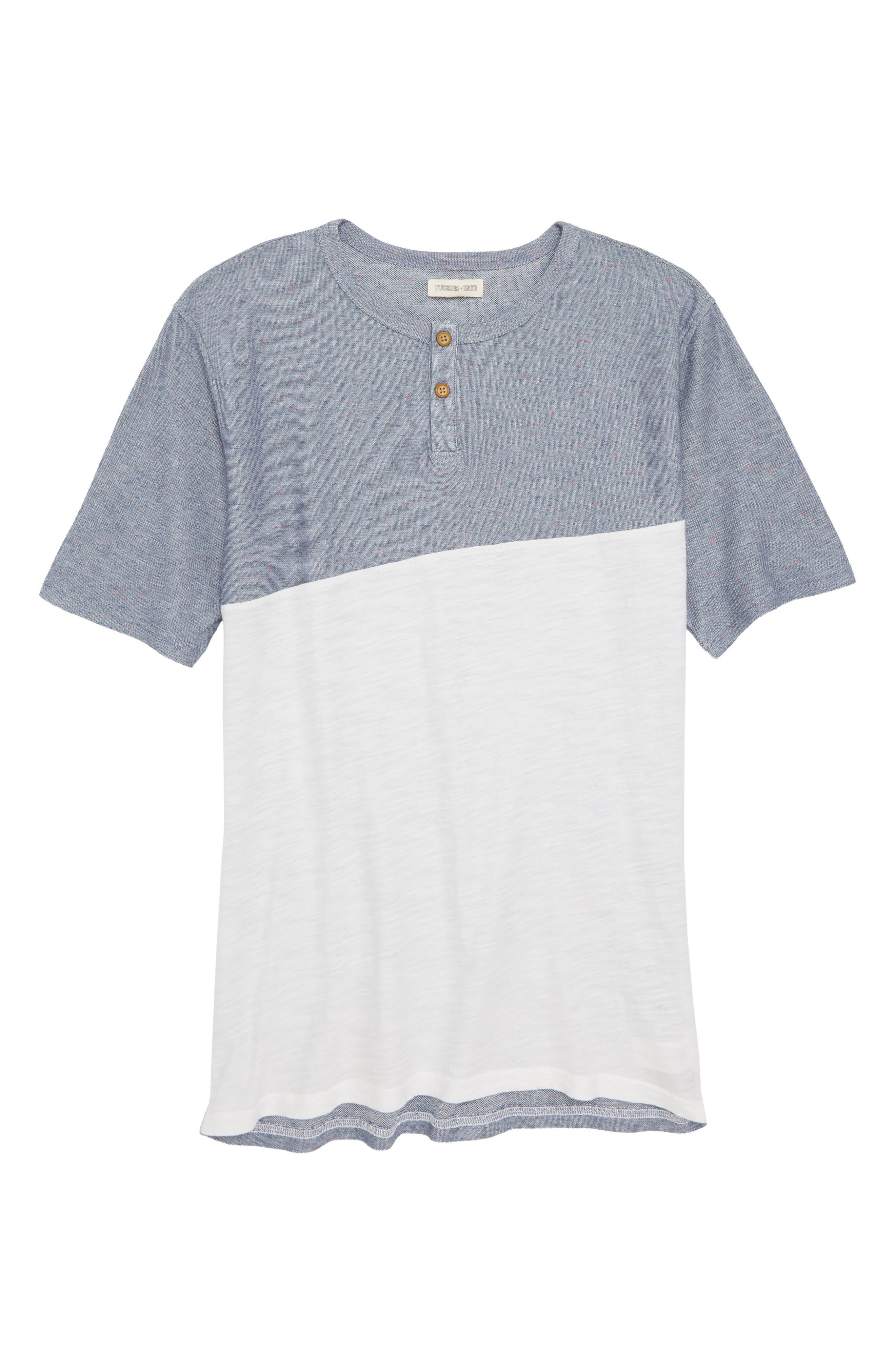 Henley T-Shirt,                         Main,                         color, Grey Vapor