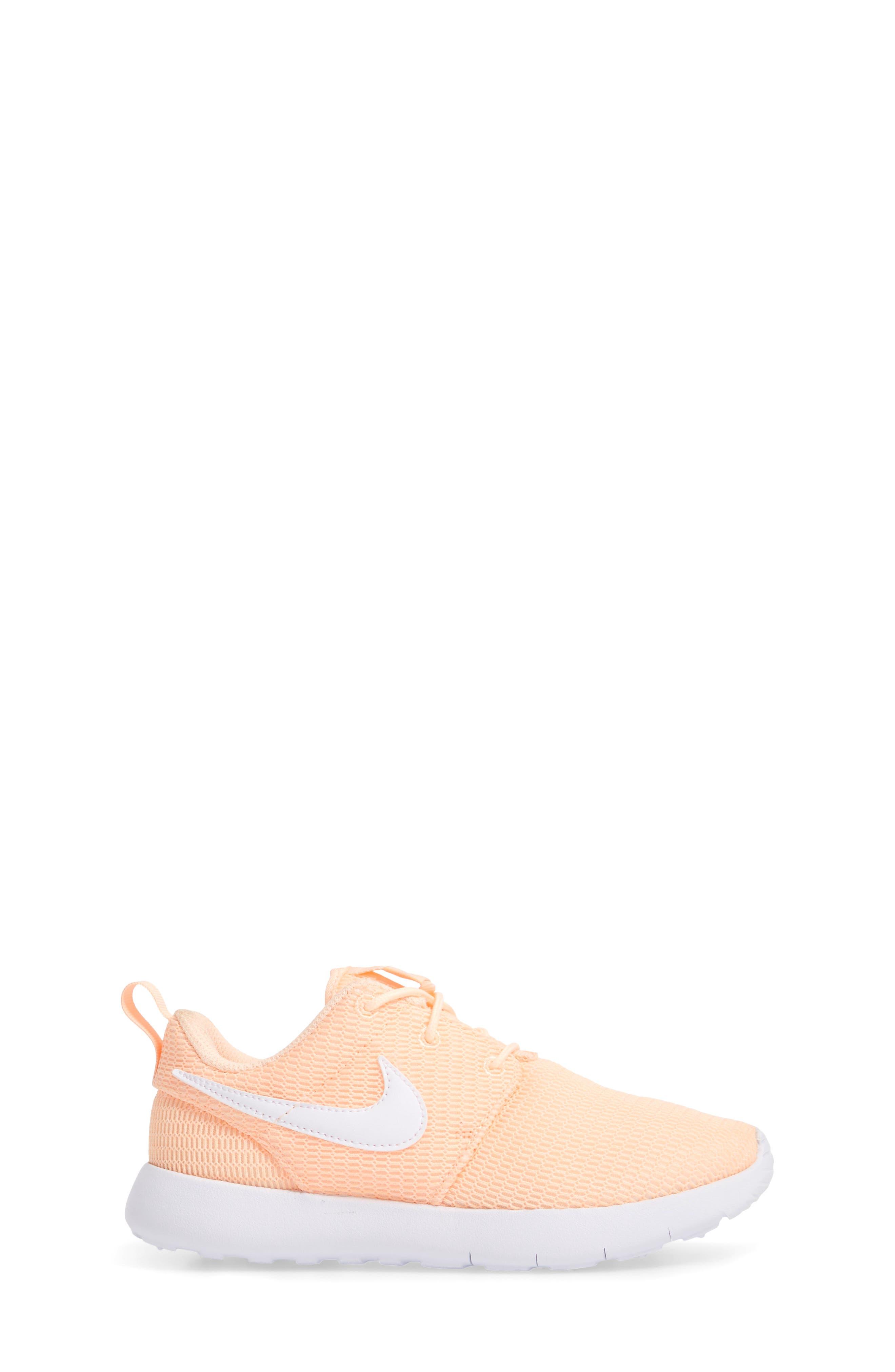 'Roshe Run' Athletic Shoe,                             Alternate thumbnail 3, color,                             Crimson Tint/ White