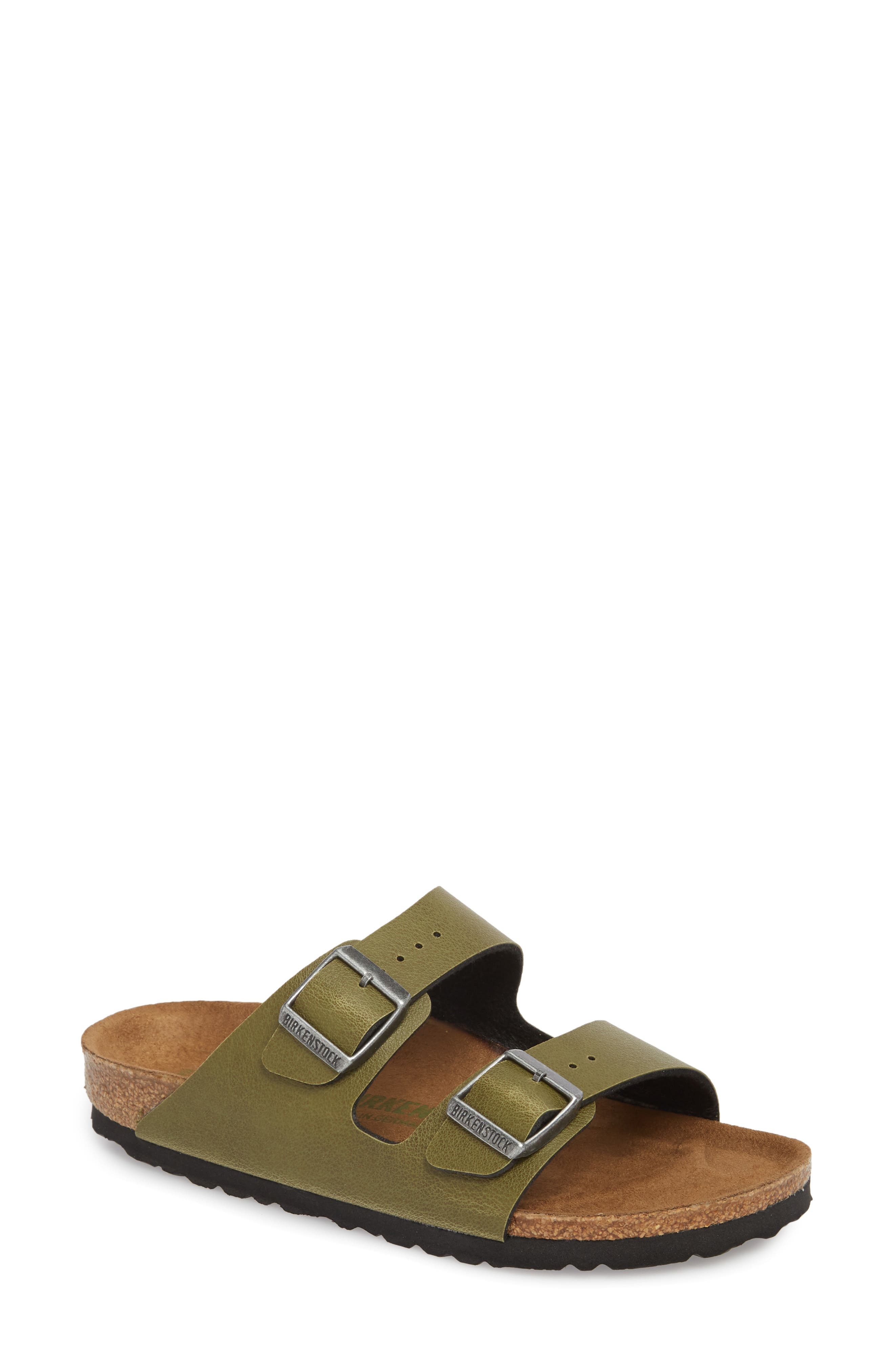 Alternate Image 1 Selected - Birkenstock Arizona Birko-Flor™ Slide Sandal (Women)