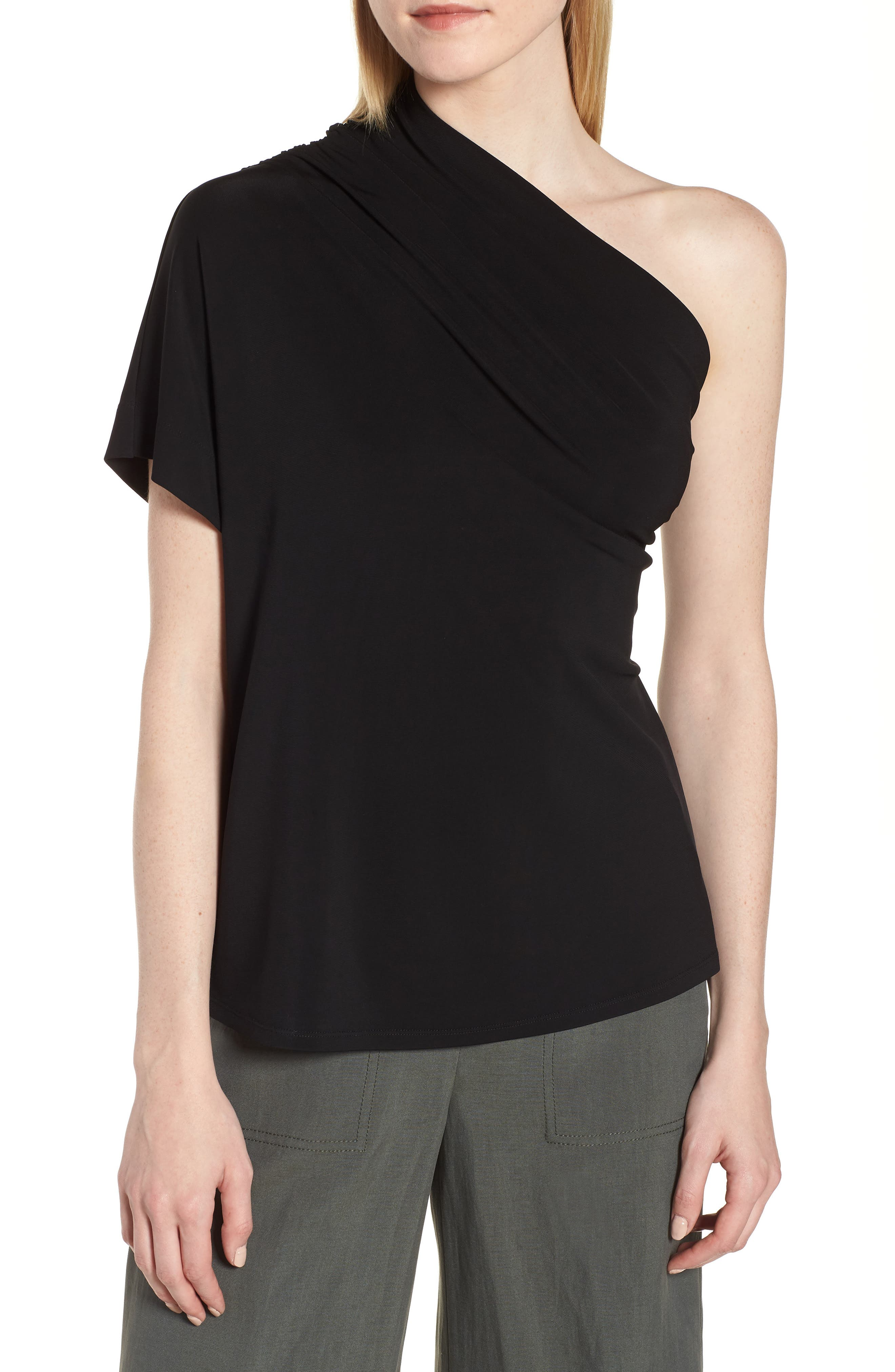 Lewit One-Shoulder Stretch Jersey Top