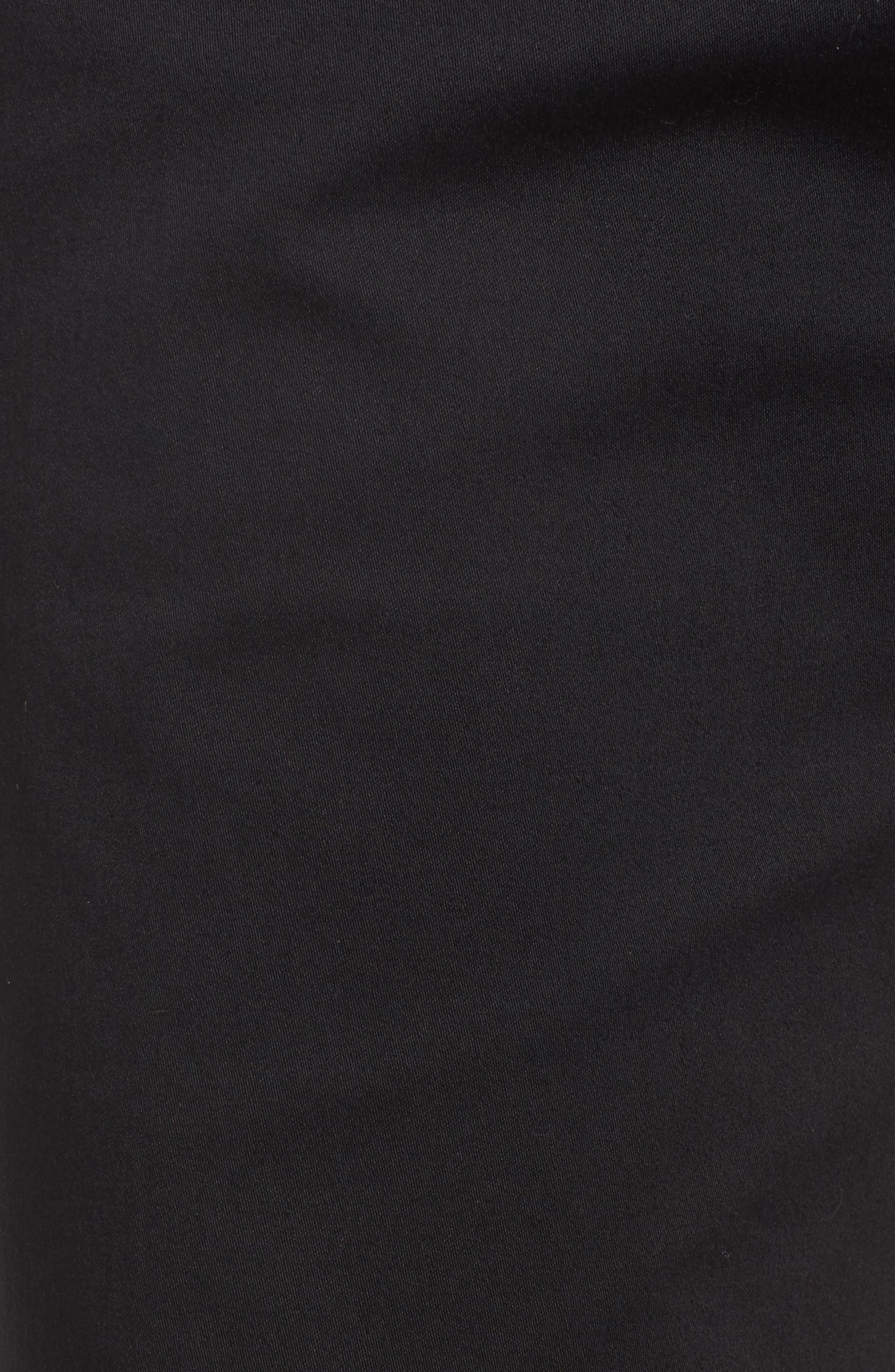 Stretch Cotton Cuff Bermuda Shorts,                             Alternate thumbnail 5, color,                             Perma Black
