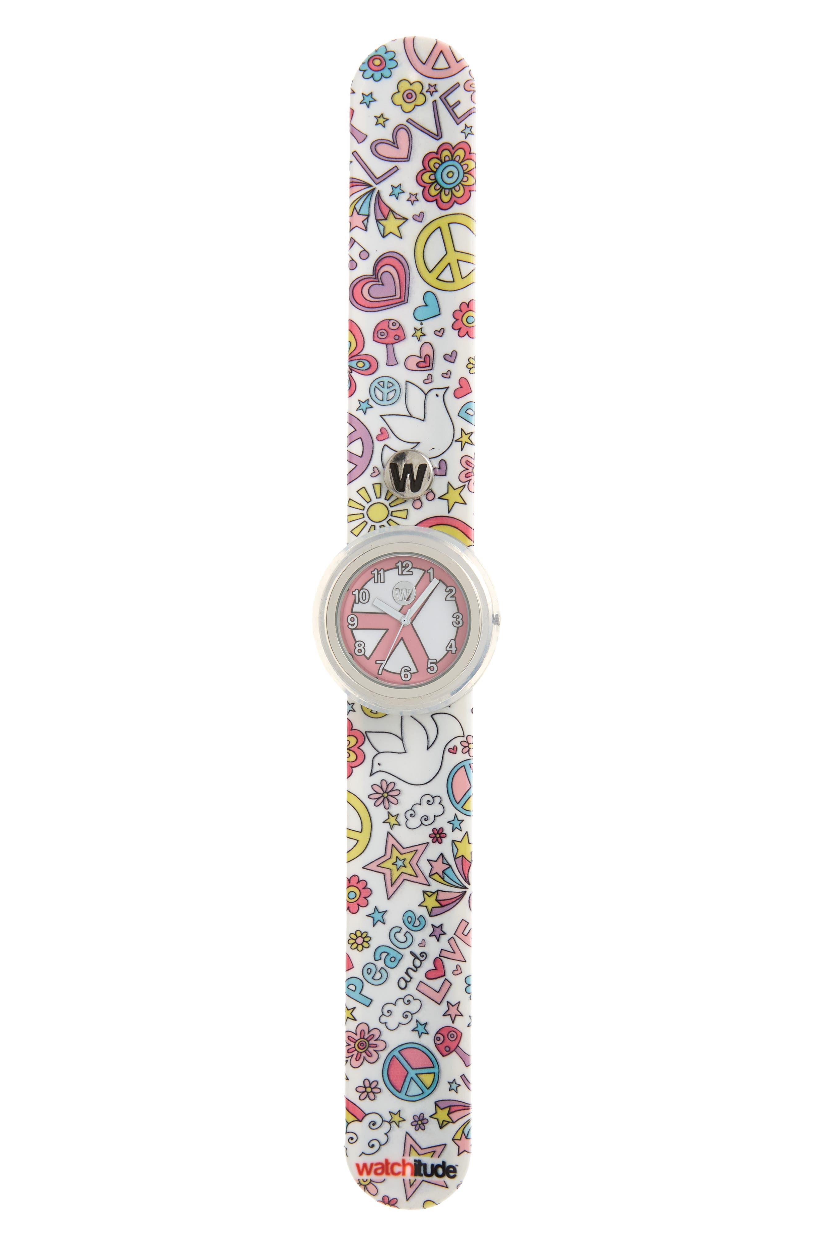 Flower Power Slap Watch,                         Main,                         color, Multi
