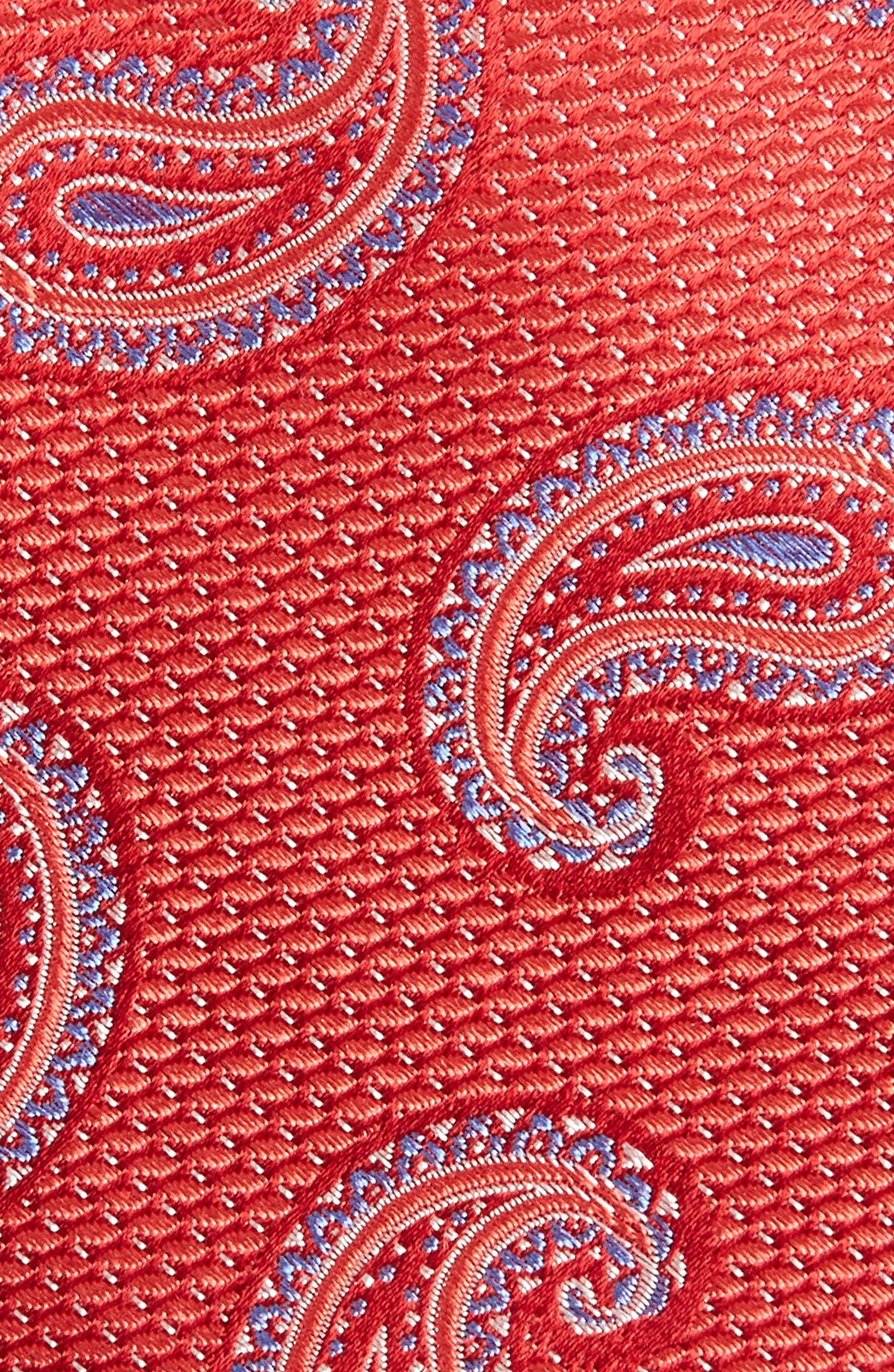 Jerome Paisley Silk Tie,                             Alternate thumbnail 2, color,                             Red