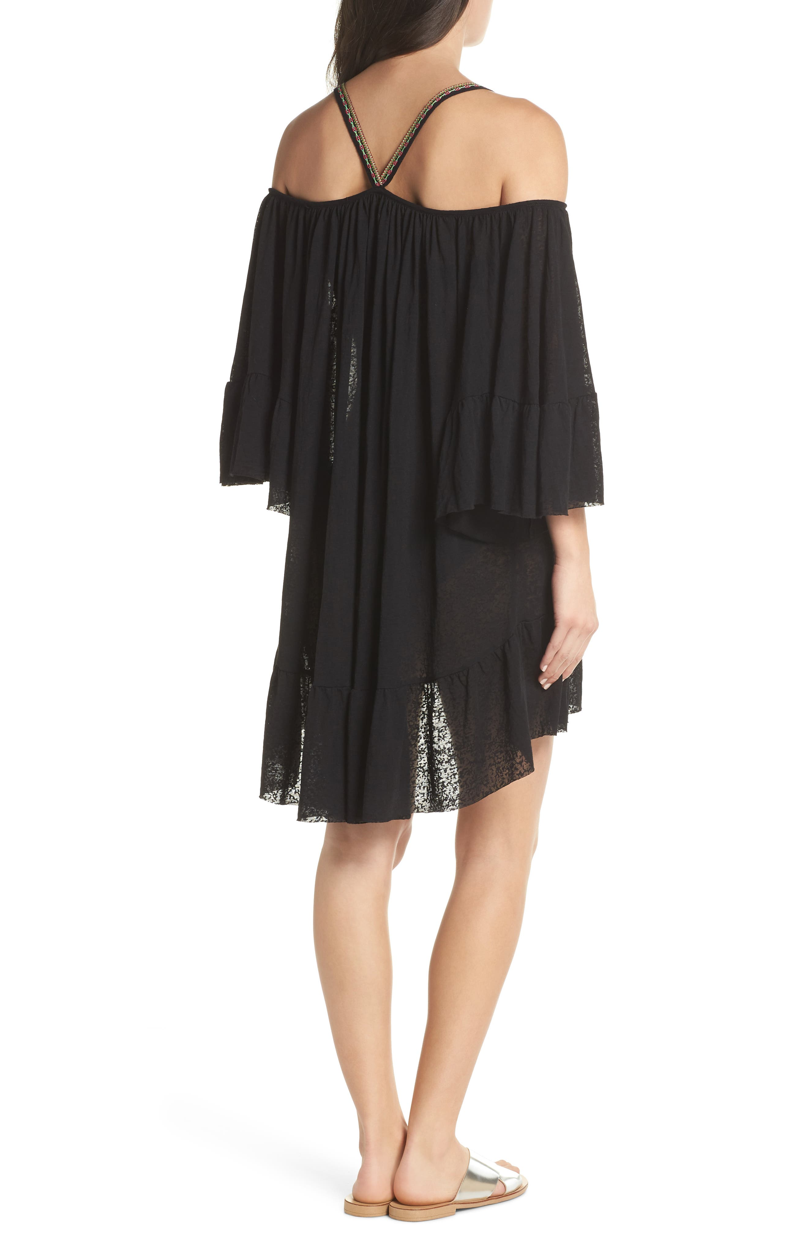 Dancing Cover-Up Dress,                             Alternate thumbnail 2, color,                             Black