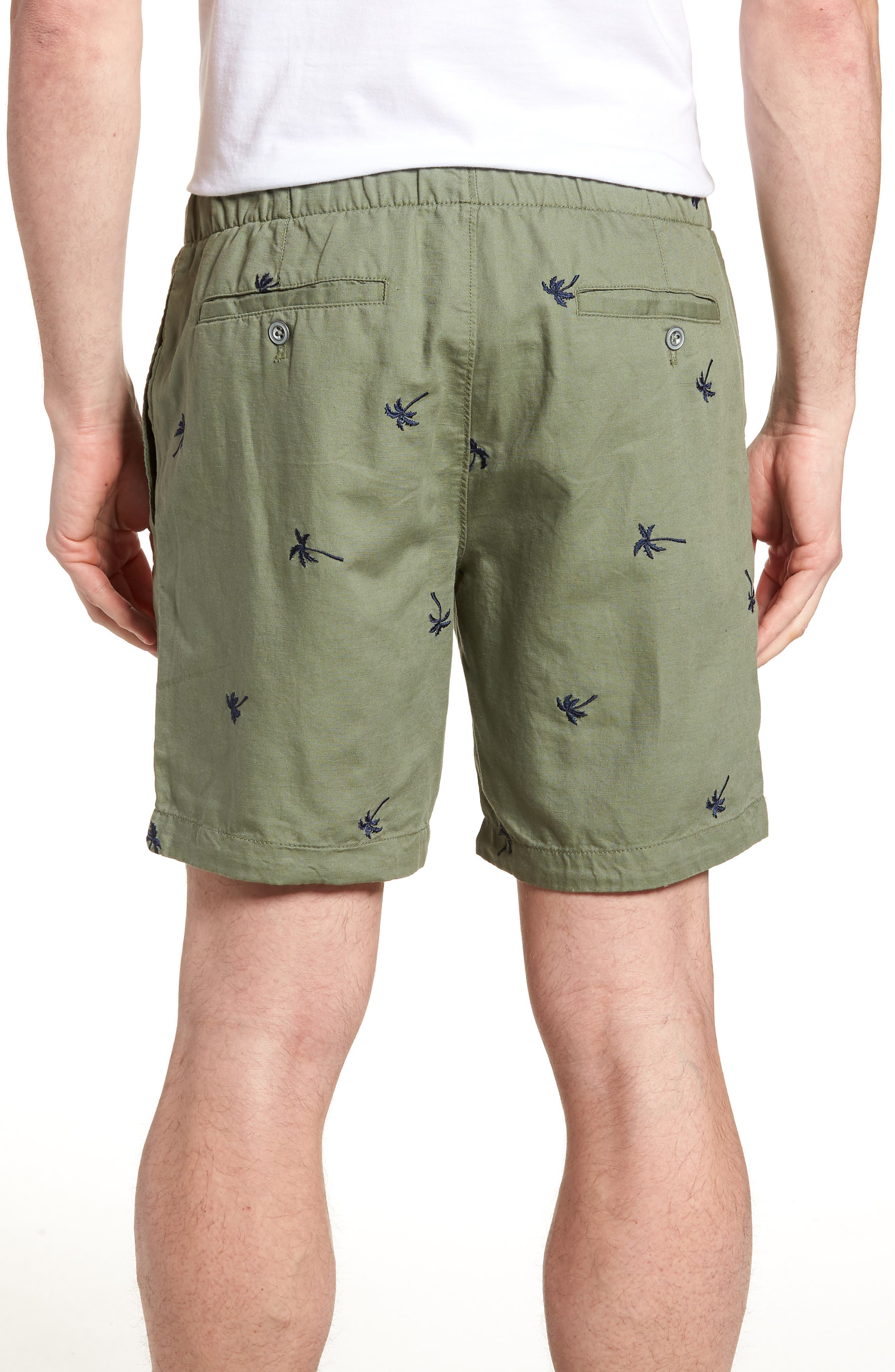 Print Beach Shorts,                             Alternate thumbnail 2, color,                             Twin Palms Olive