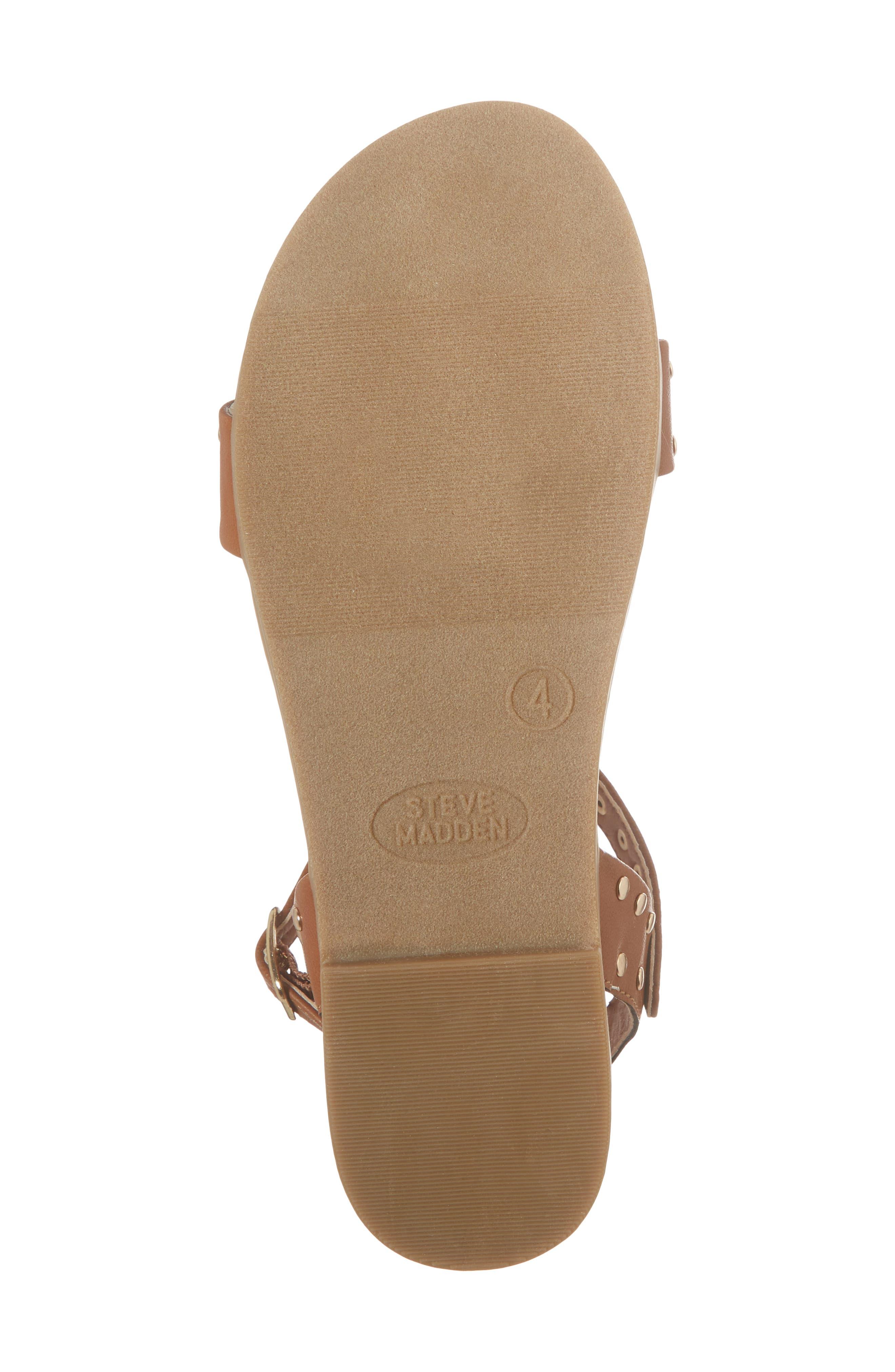 JDONDI Studded Sandal,                             Alternate thumbnail 6, color,                             Cognac