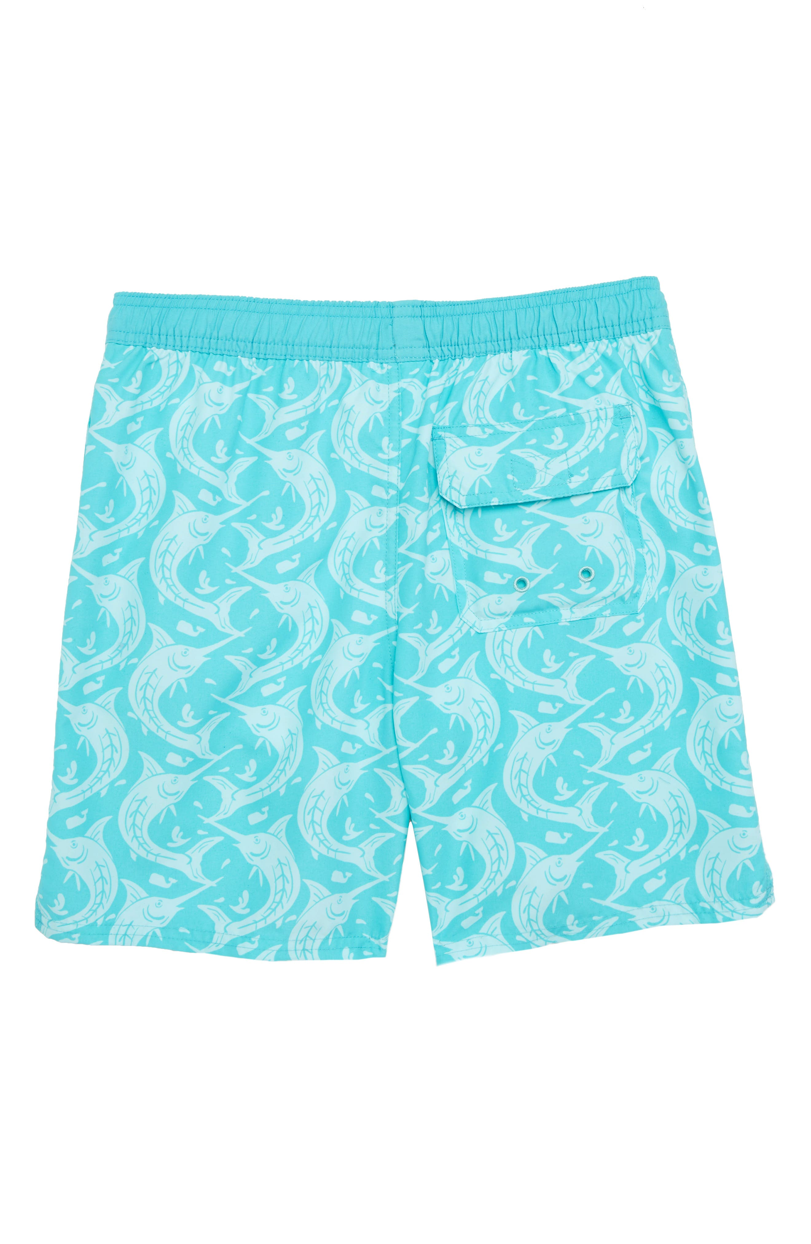 Marlin Out of Water Swim Trunks,                             Alternate thumbnail 2, color,                             Turqs