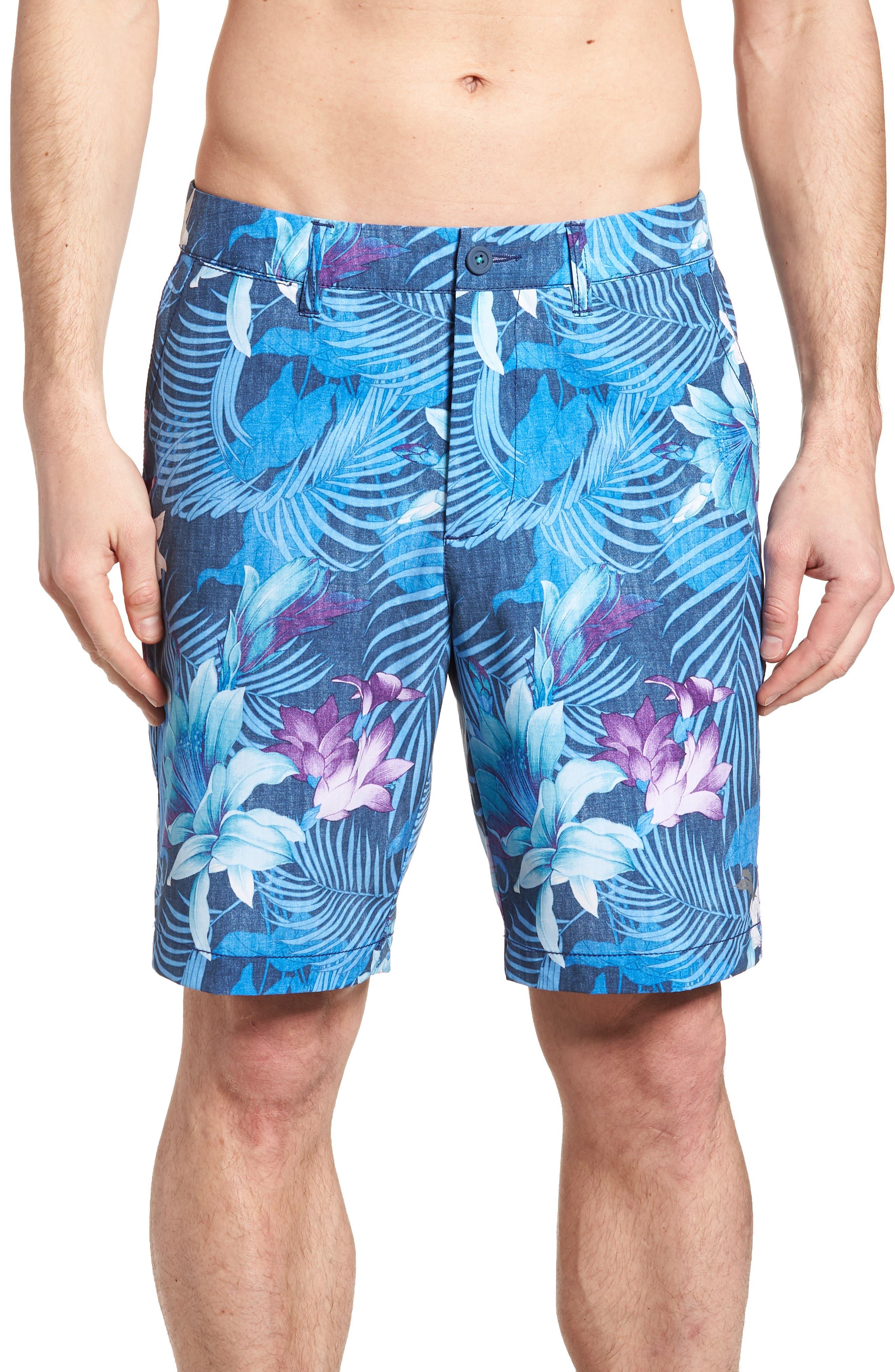Cayman Laredo Blooms Board Shorts,                             Main thumbnail 1, color,                             Ocean Deep