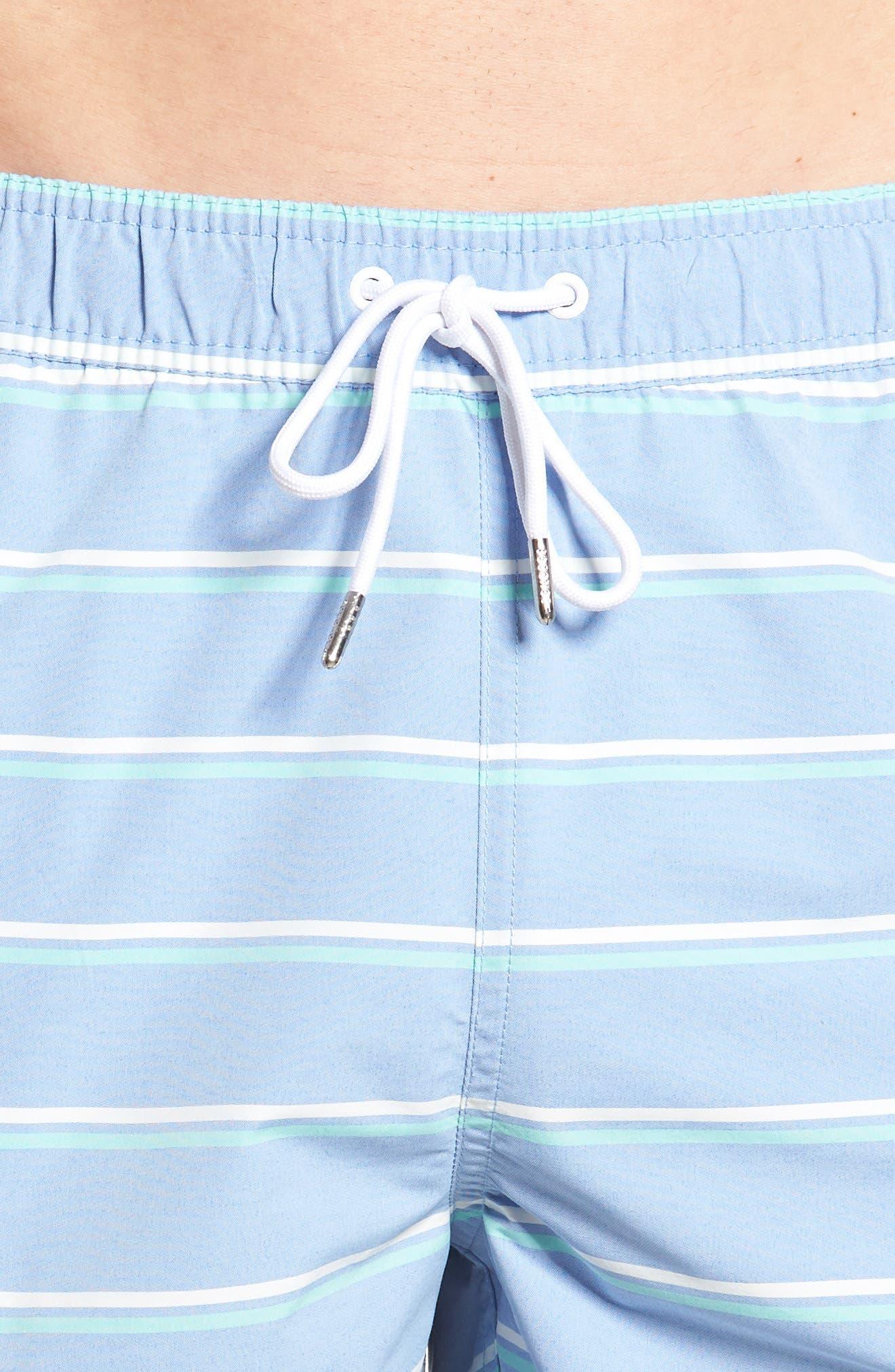Banzai 7-Inch Swim Trunks,                             Alternate thumbnail 4, color,                             Swim Stripe Rip Curl