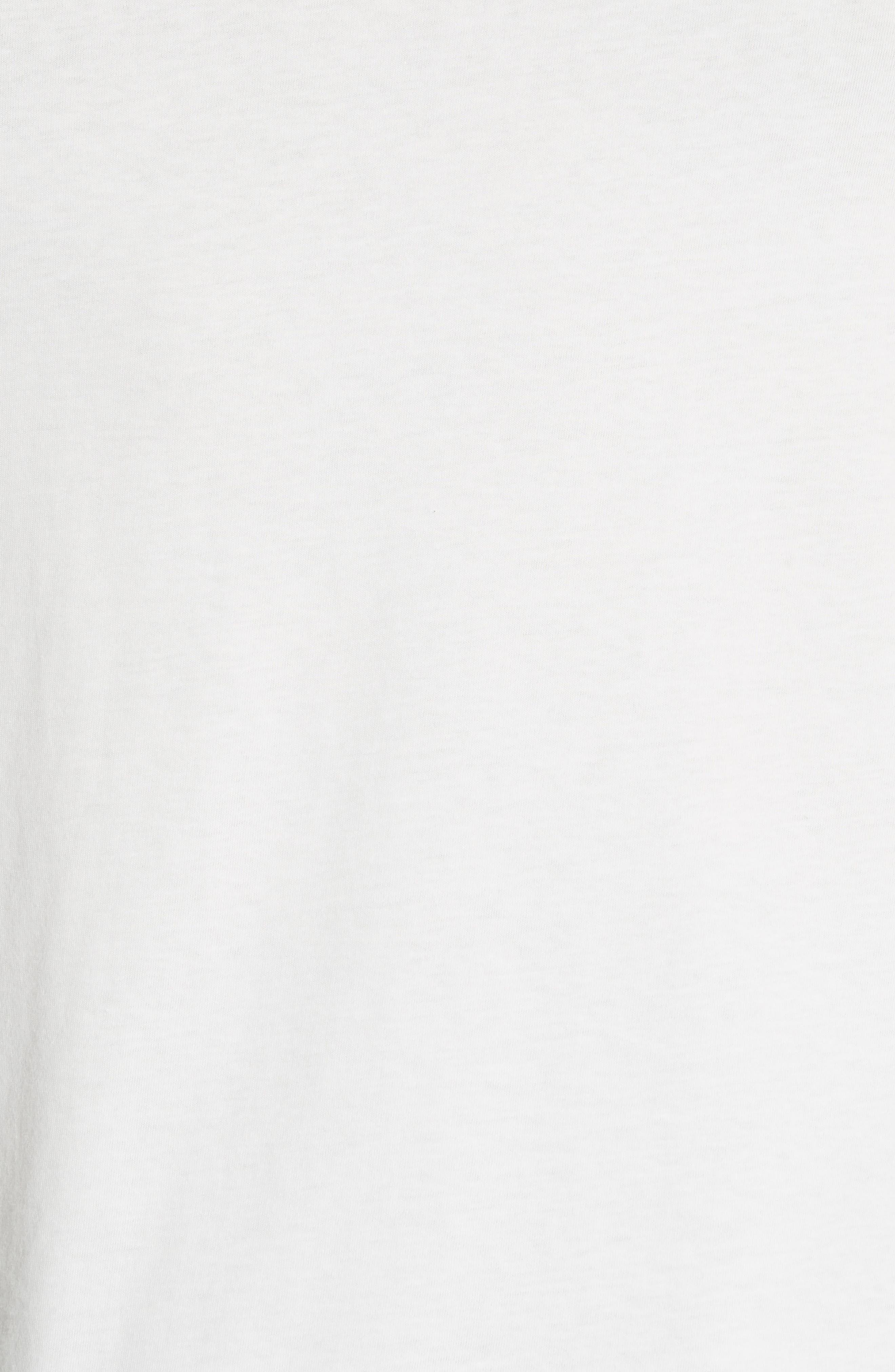 Chevron Stripe Print T-Shirt,                             Alternate thumbnail 5, color,                             Natural
