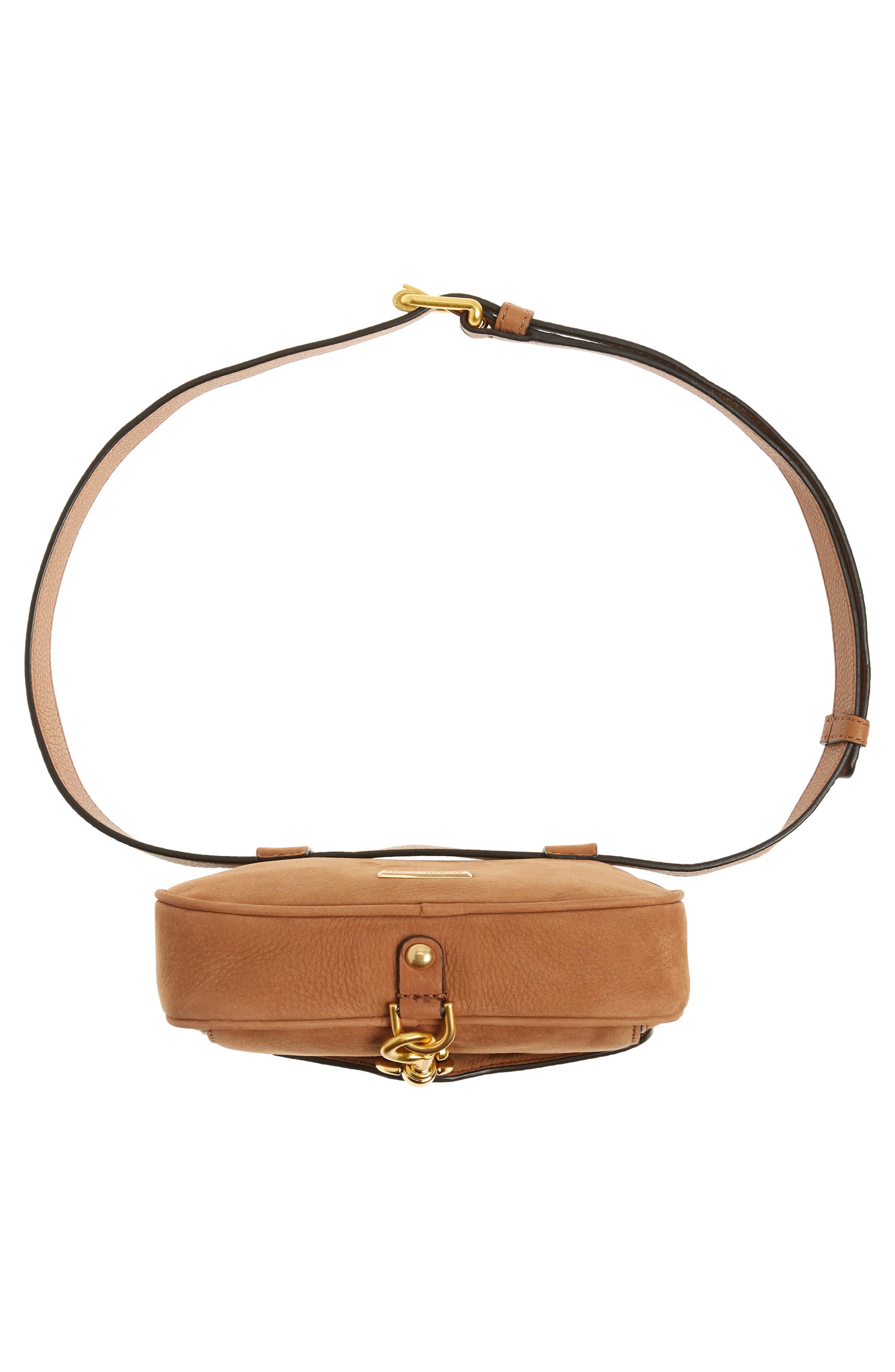 Blythe Leather Belt Bag,                             Alternate thumbnail 7, color,                             Almond