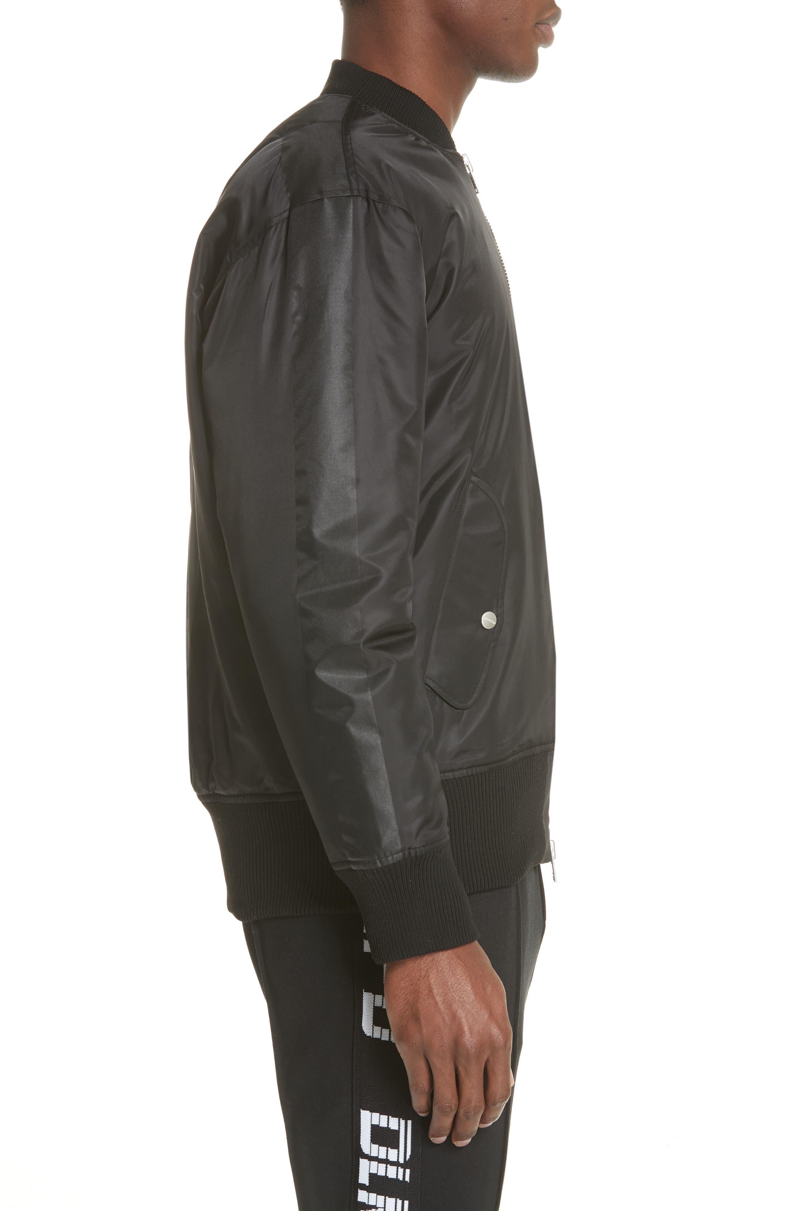 Van Ness Bomber Jacket,                             Alternate thumbnail 3, color,                             Black