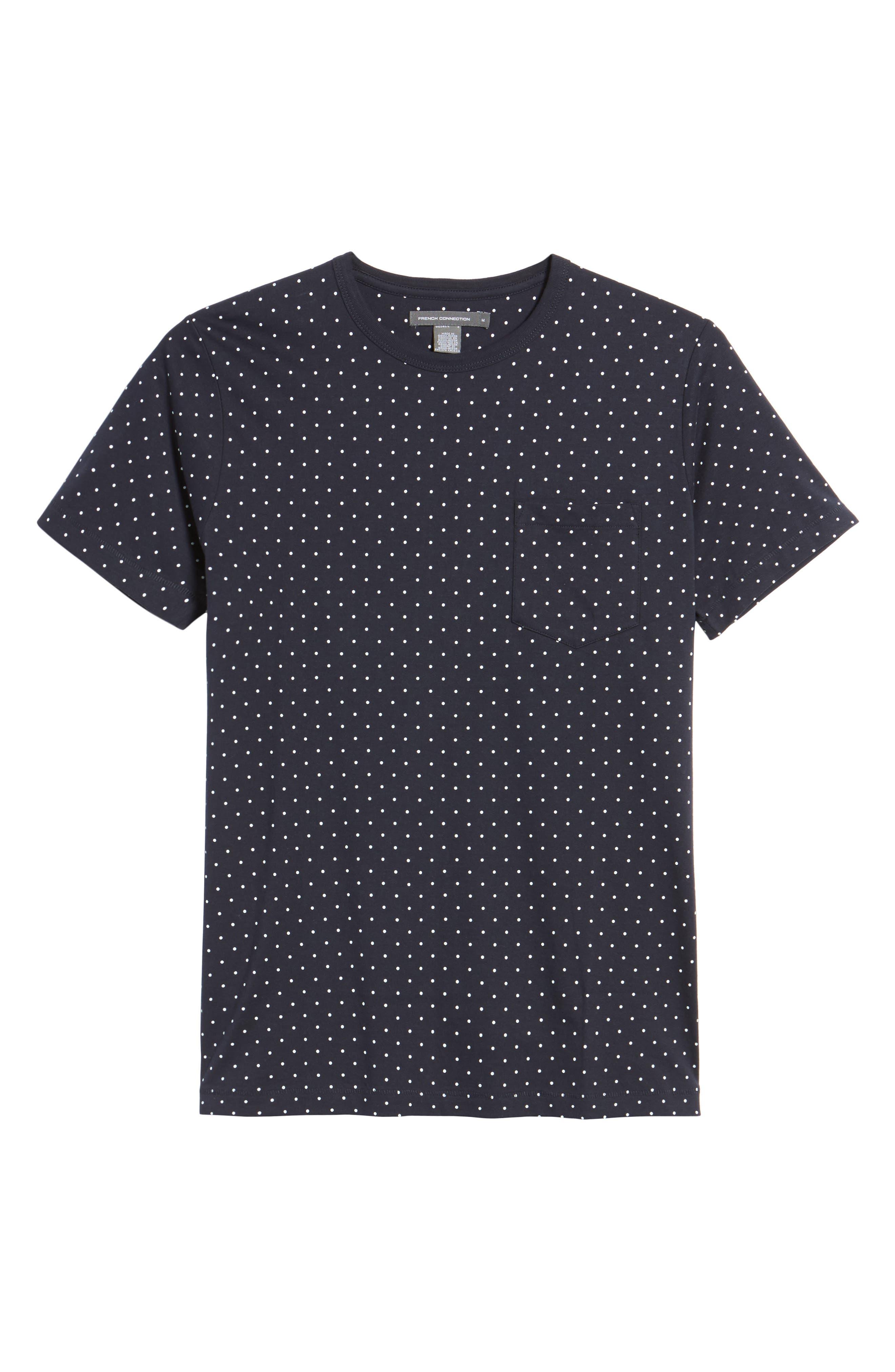 Spot Crewneck T-Shirt,                             Alternate thumbnail 6, color,                             Marine Blue White