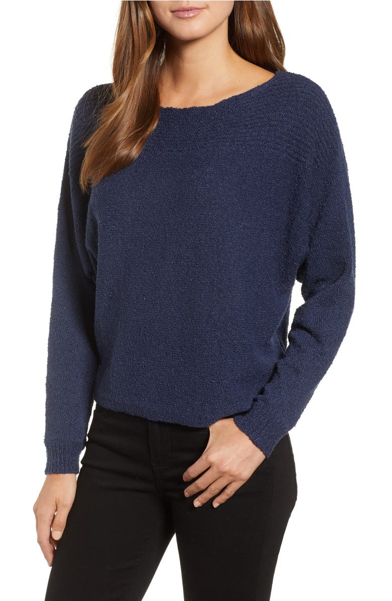 Calson<sup>®</sup> Dolman Sleeve Sweater,                         Main,                         color, Navy Indigo