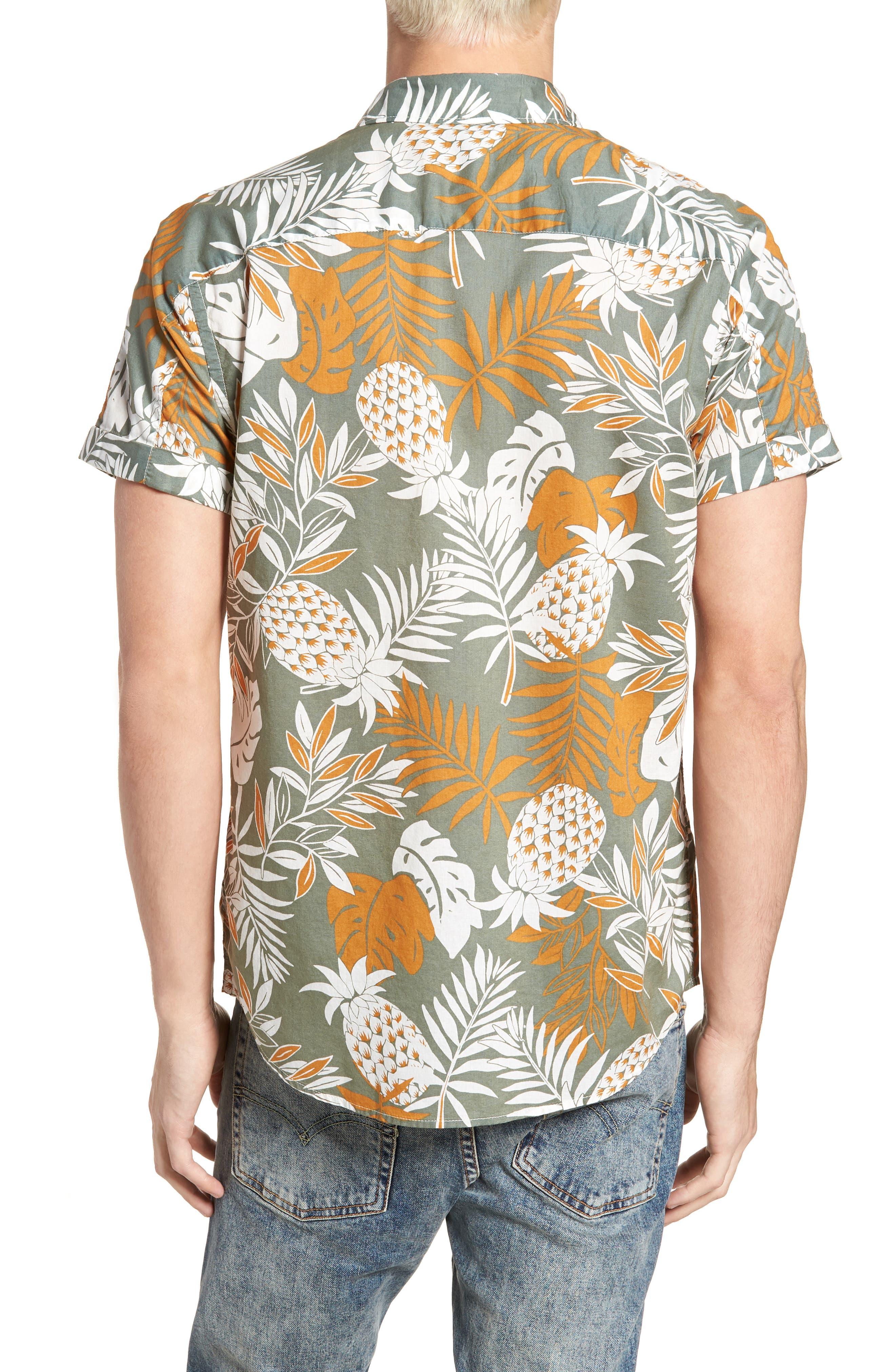 Floral Print Woven Shirt,                             Alternate thumbnail 3, color,                             Combo A