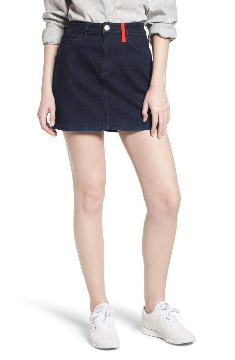 The Five-Pocket Denim Miniskirt