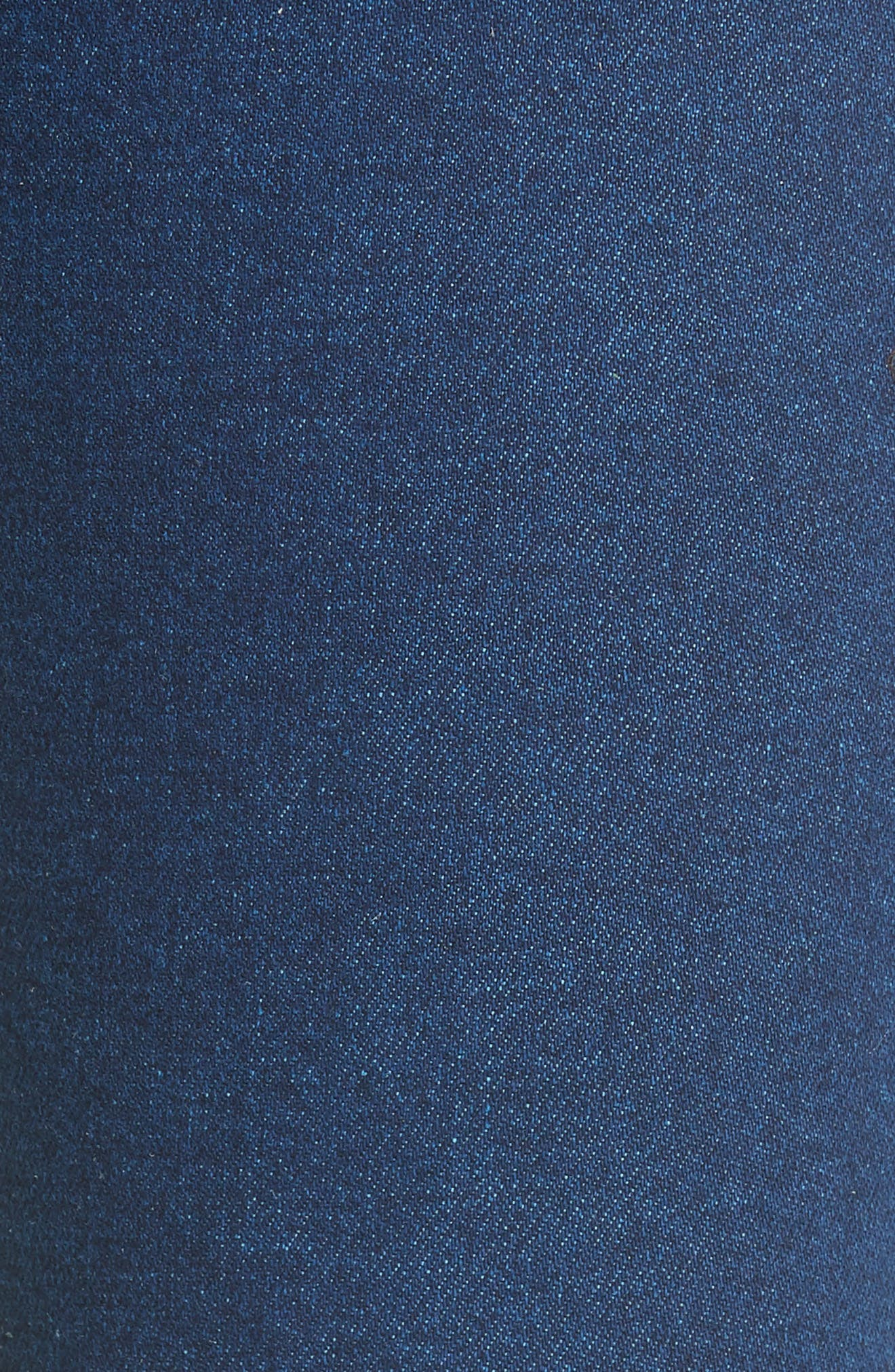 Contrast Circle Stitch Jeans,                             Alternate thumbnail 5, color,                             Ultramarine