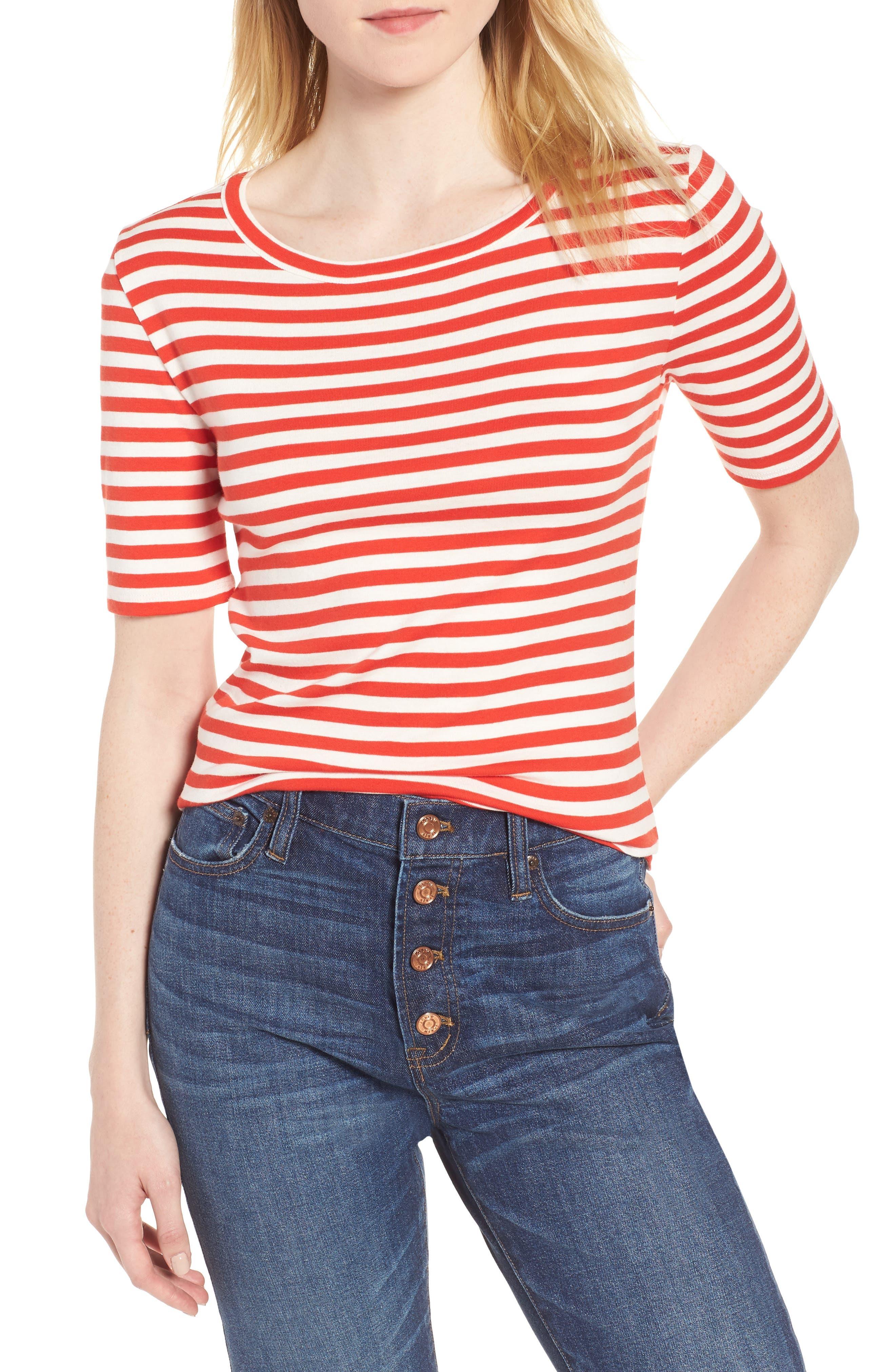 New Perfect Fit T-Shirt,                             Main thumbnail 1, color,                             Ivory Vivid Flame