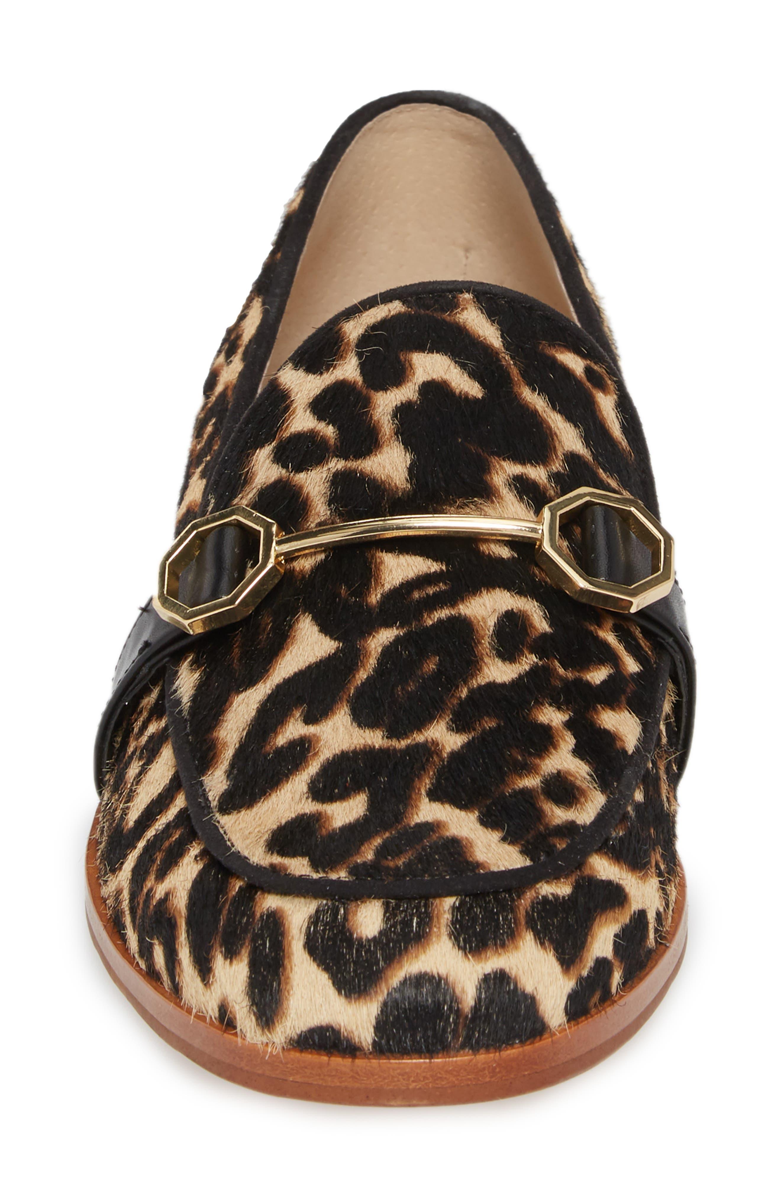 Bayne Genuine Calf Hair Loafer,                             Alternate thumbnail 4, color,                             Leopard Pony Hair