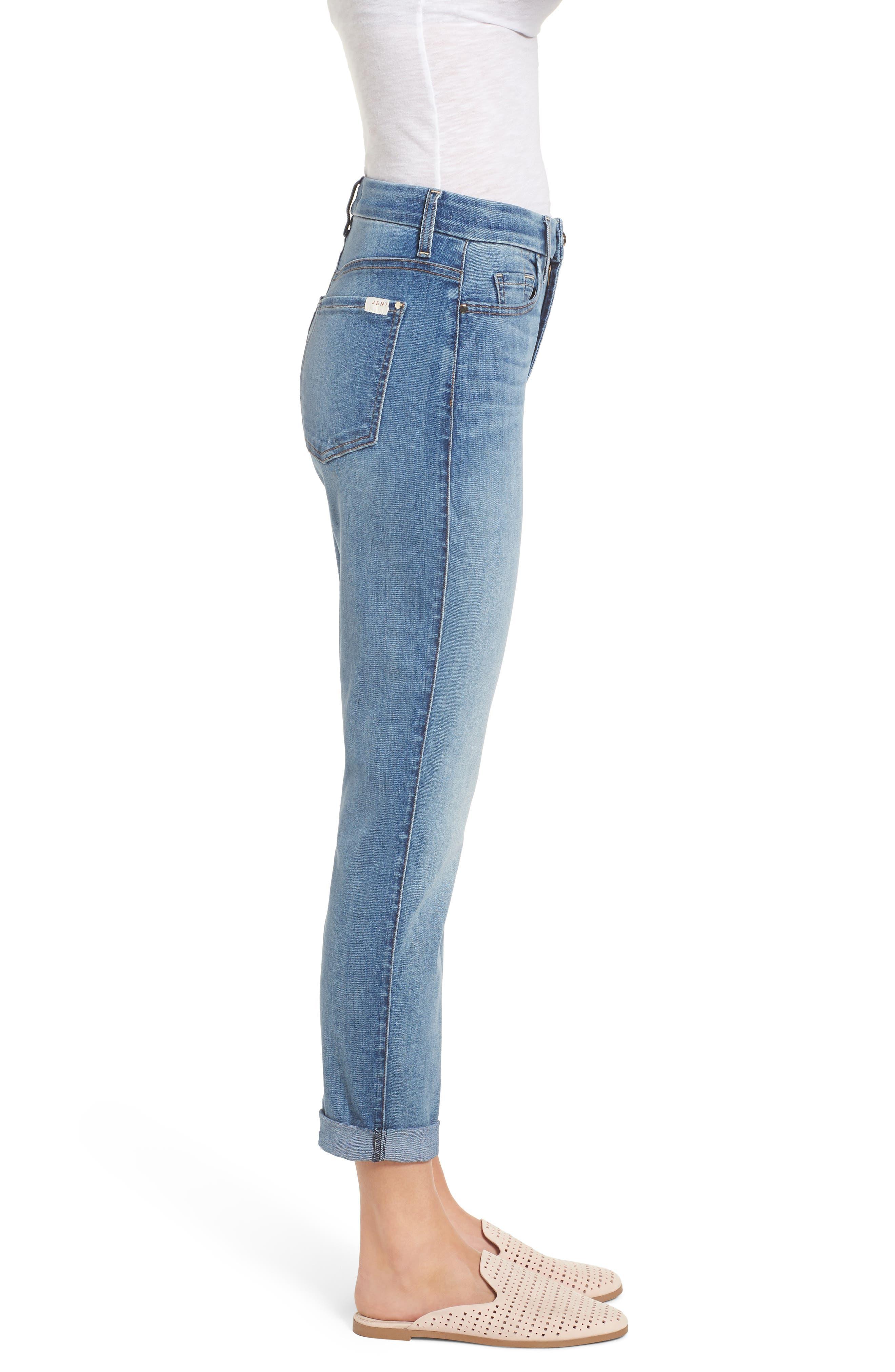 Slim Boyfriend Jeans,                             Alternate thumbnail 3, color,                             Sunlight