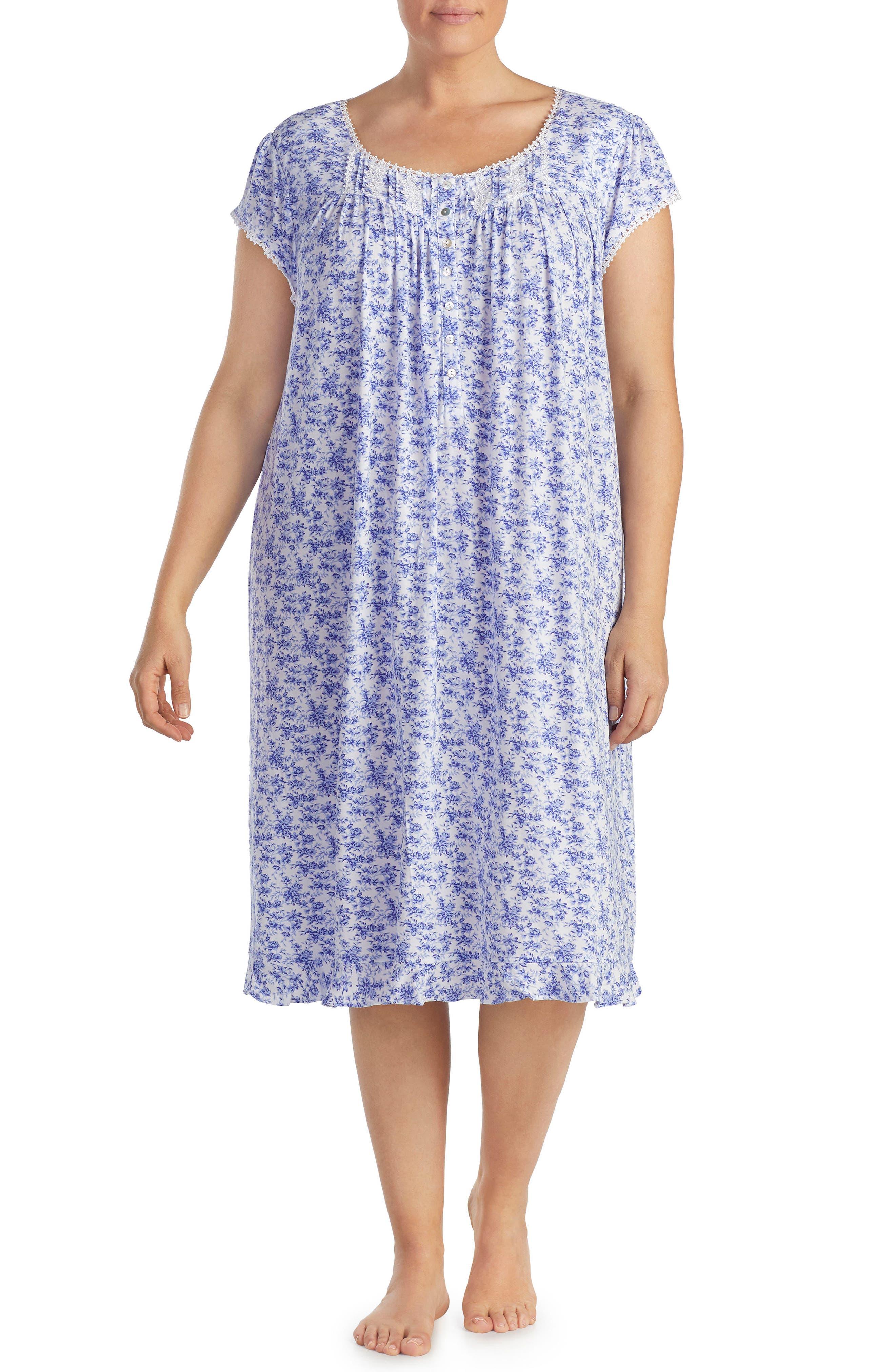 Print Nightgown,                             Main thumbnail 1, color,                             Lilac