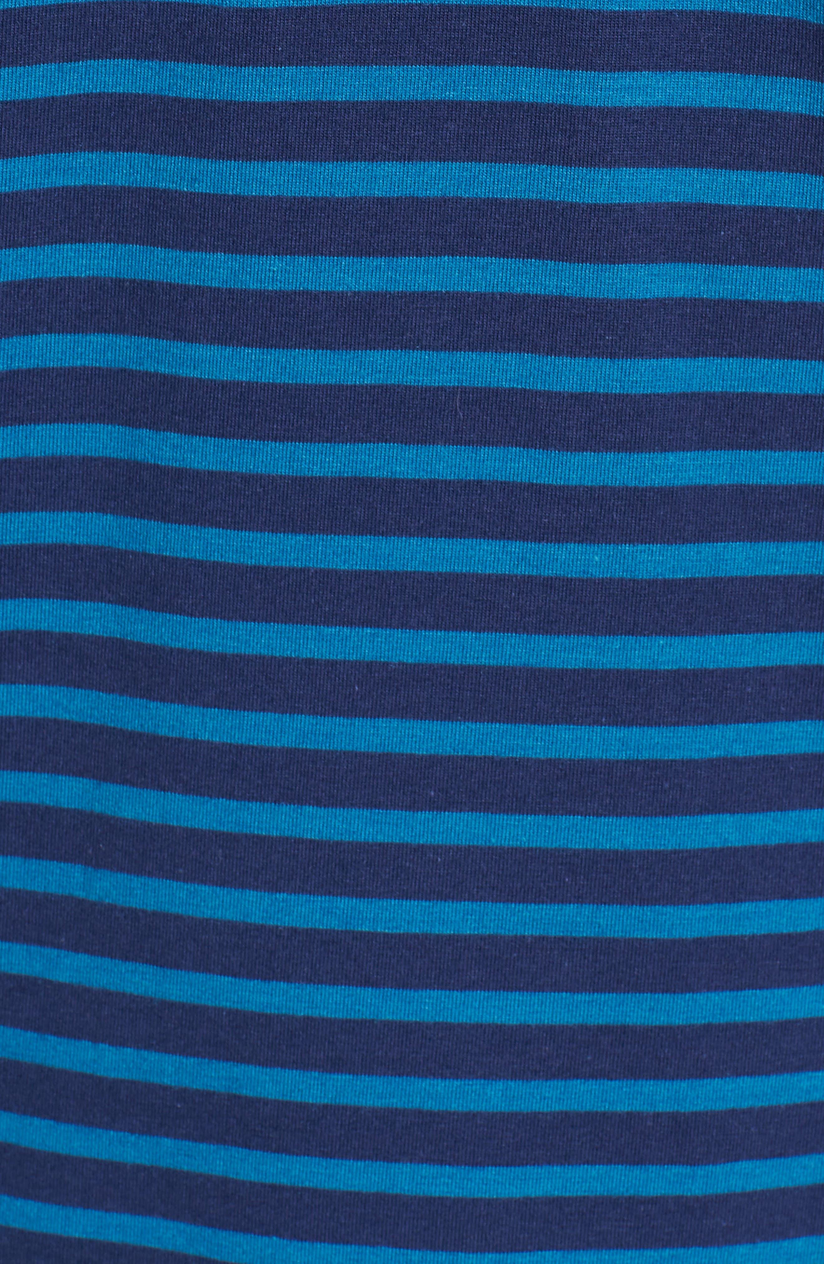 Wichita Stripe Polo,                             Alternate thumbnail 5, color,                             Maltese/ Caymen