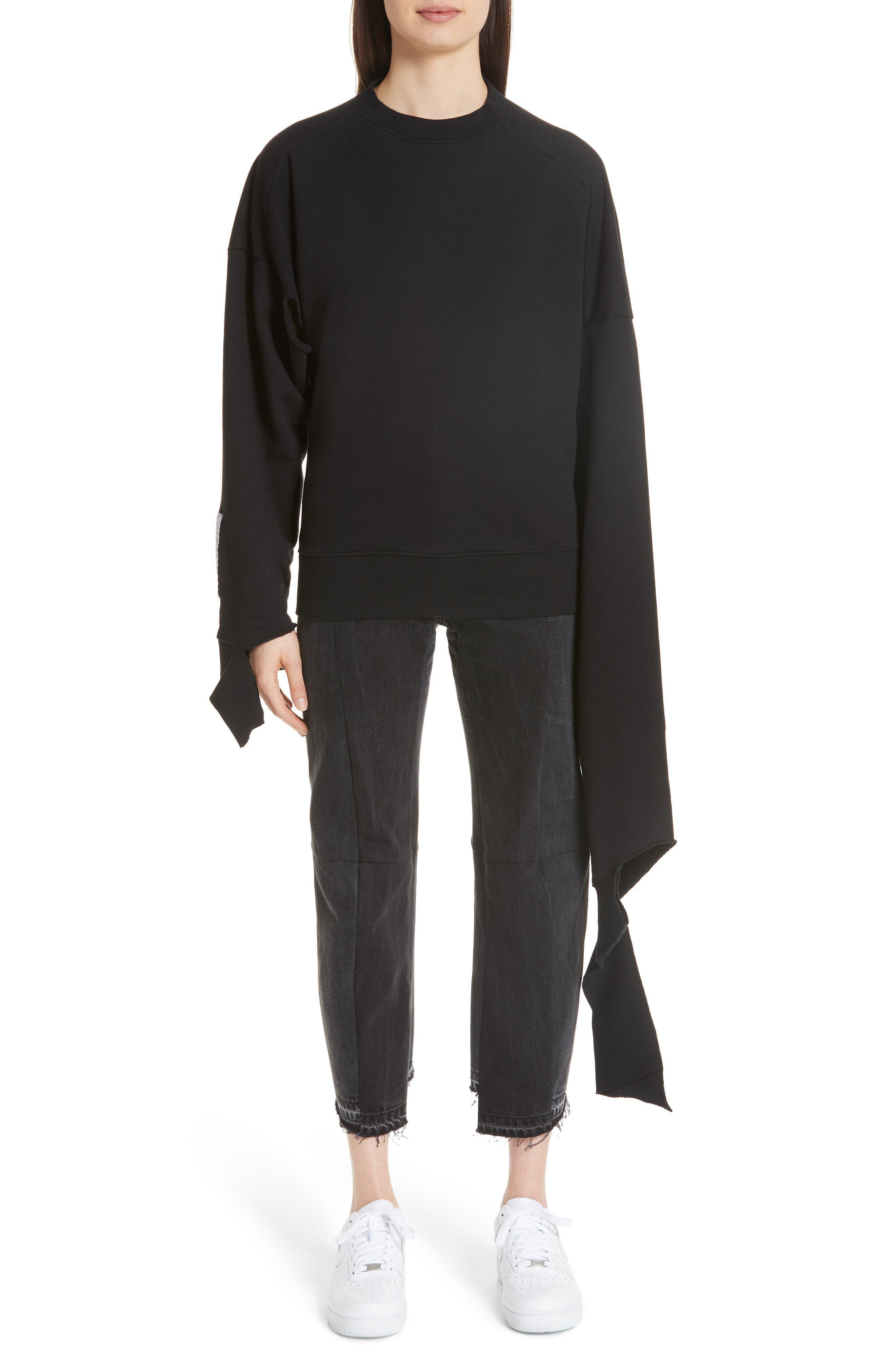 In Progress Crewneck Sweatshirt,                         Main,                         color, Black