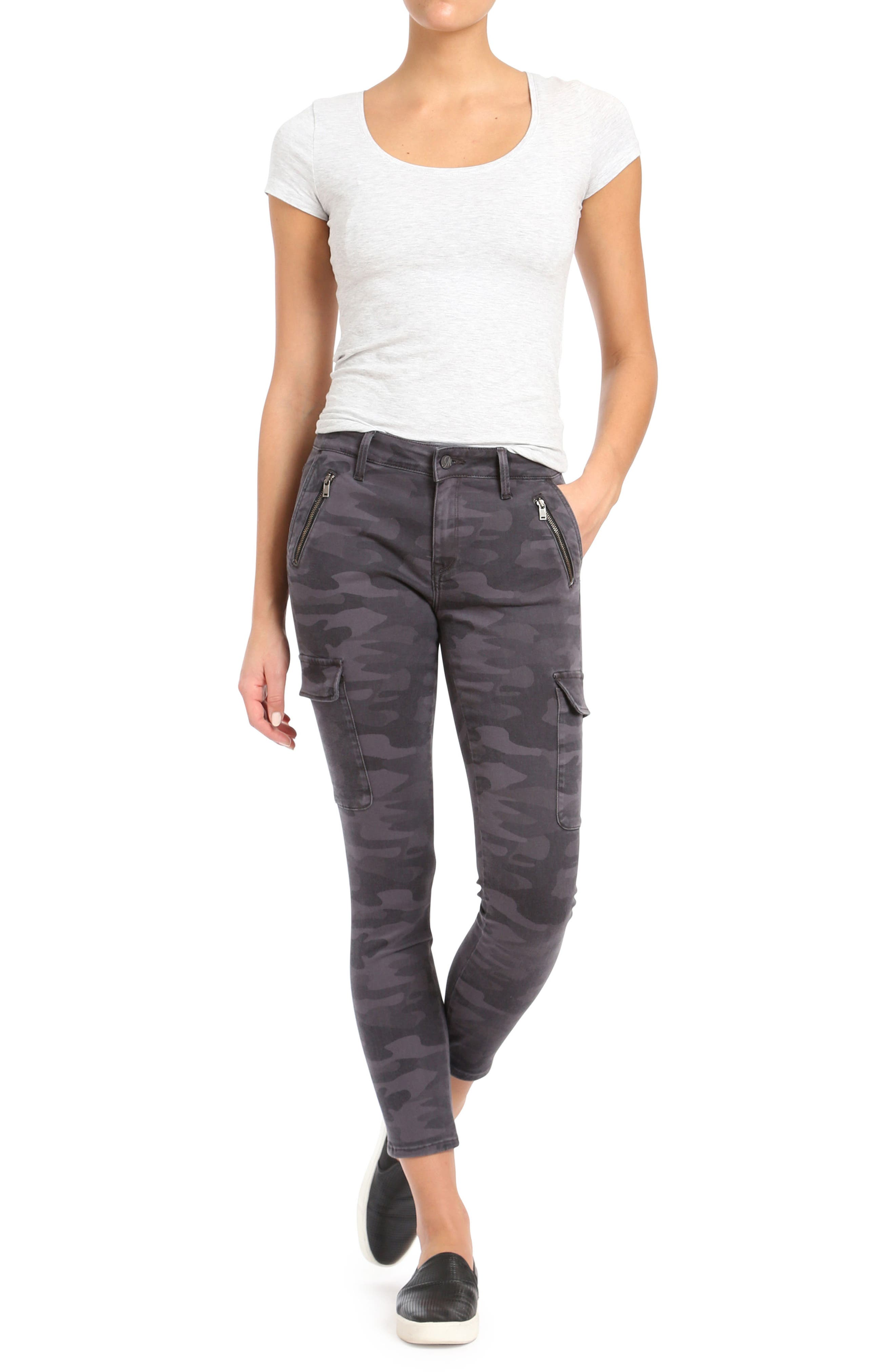 Alternate Image 4  - Mavi Jeans Juliette Camo Skinny Cargo Pants