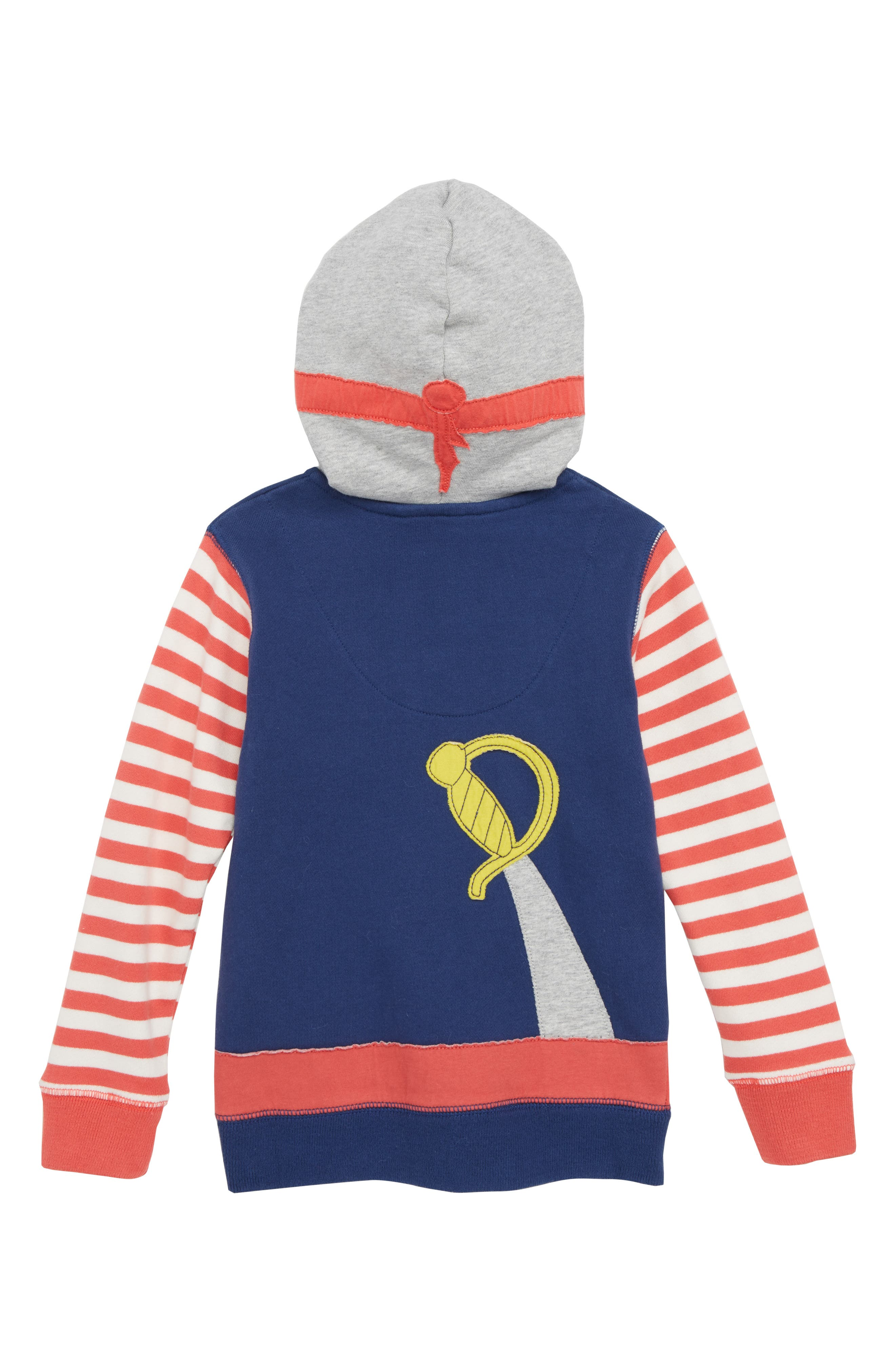 Novelty Pirate Hoodie,                             Alternate thumbnail 2, color,                             Beacon Blue Pirate