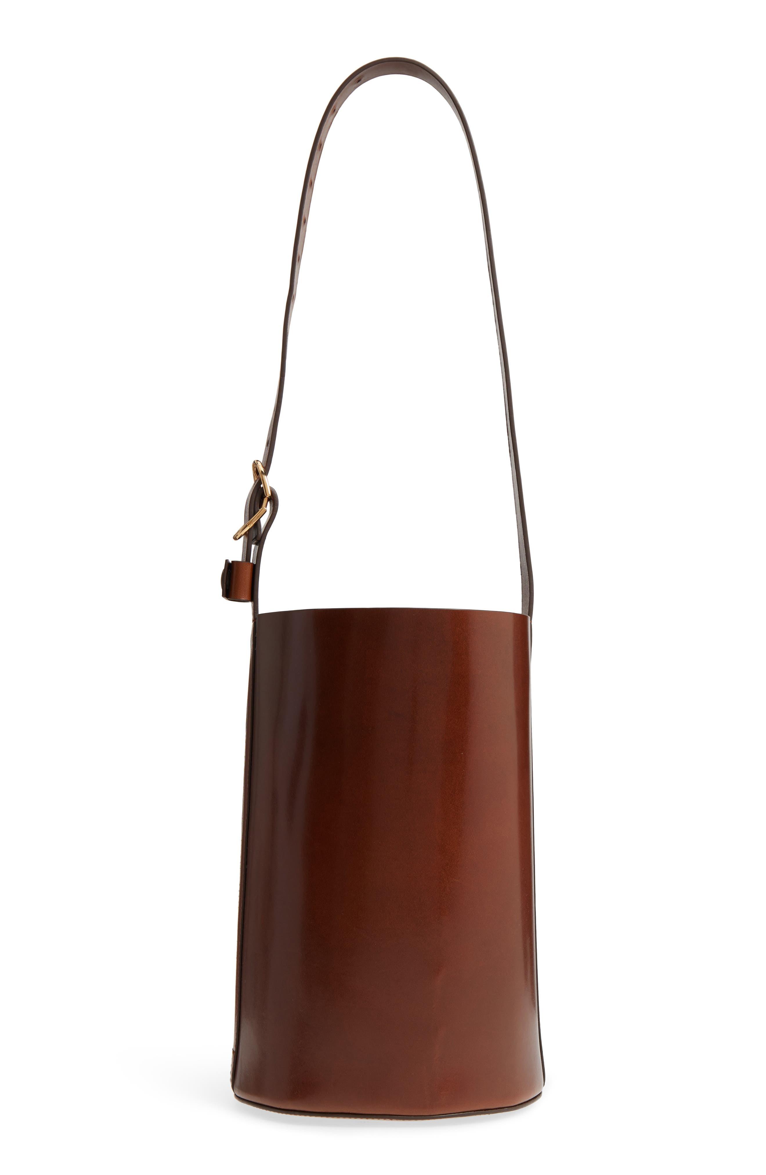 TRADEMARK Leather Bucket Bag