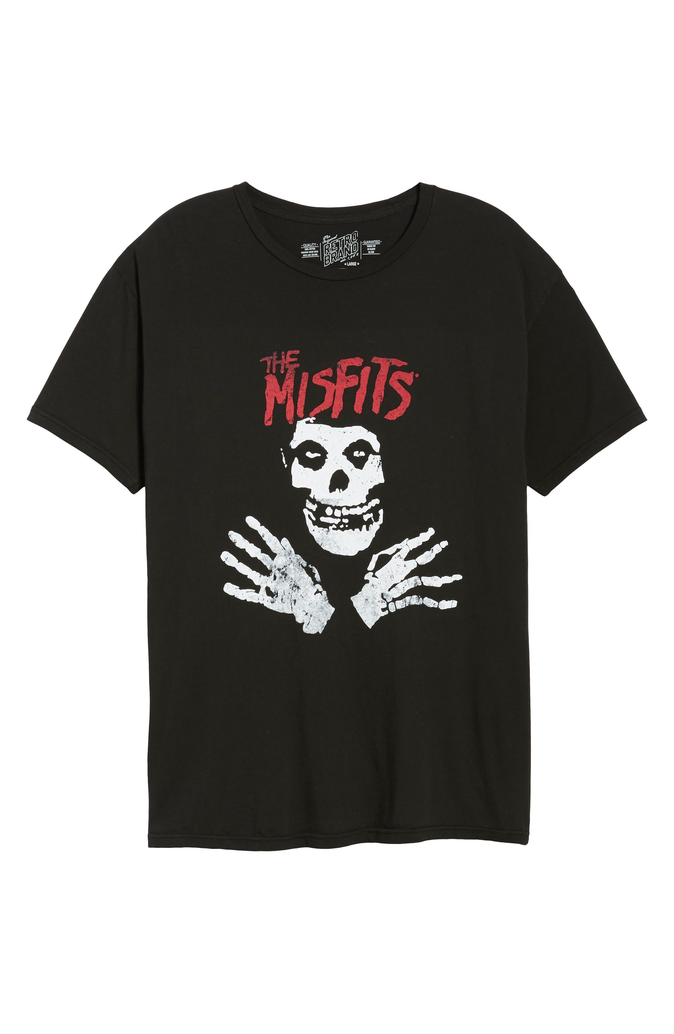 Misfits Graphic T-Shirt,                             Alternate thumbnail 6, color,                             Black