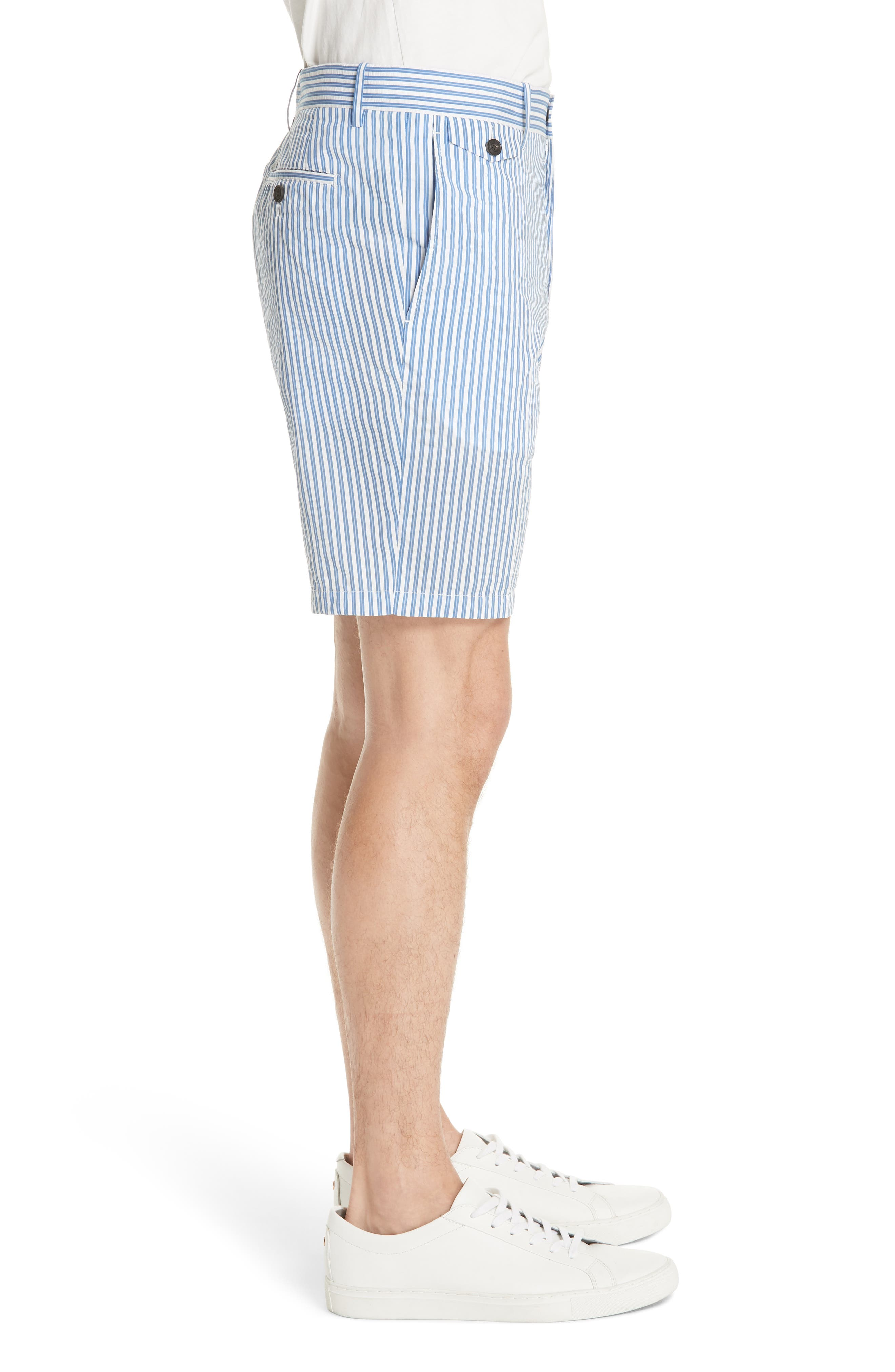 Serpentine Stripe Shorts,                             Alternate thumbnail 3, color,                             Navy