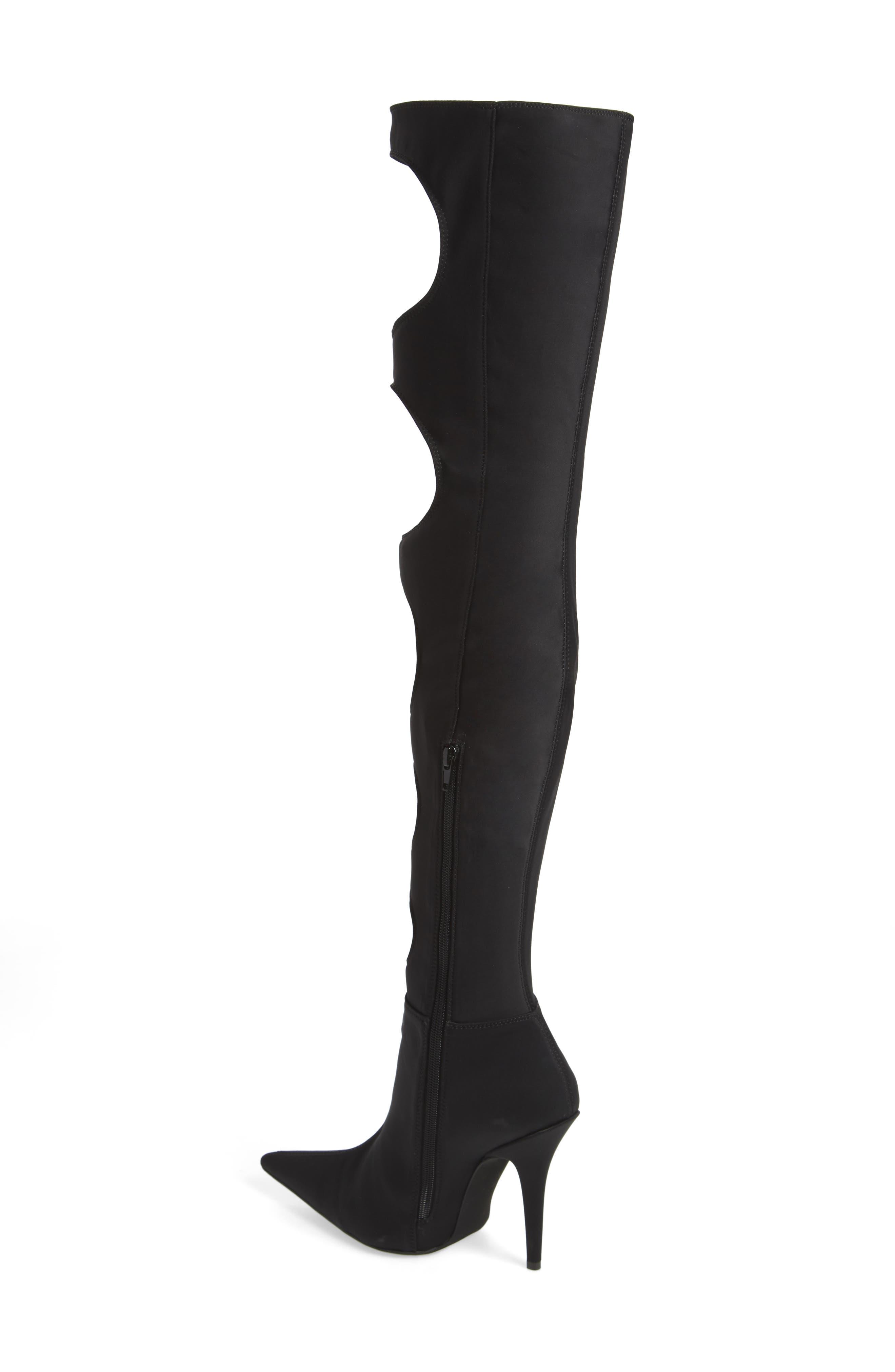 Gamora Over the Knee Boot,                             Alternate thumbnail 2, color,                             Black/ Black