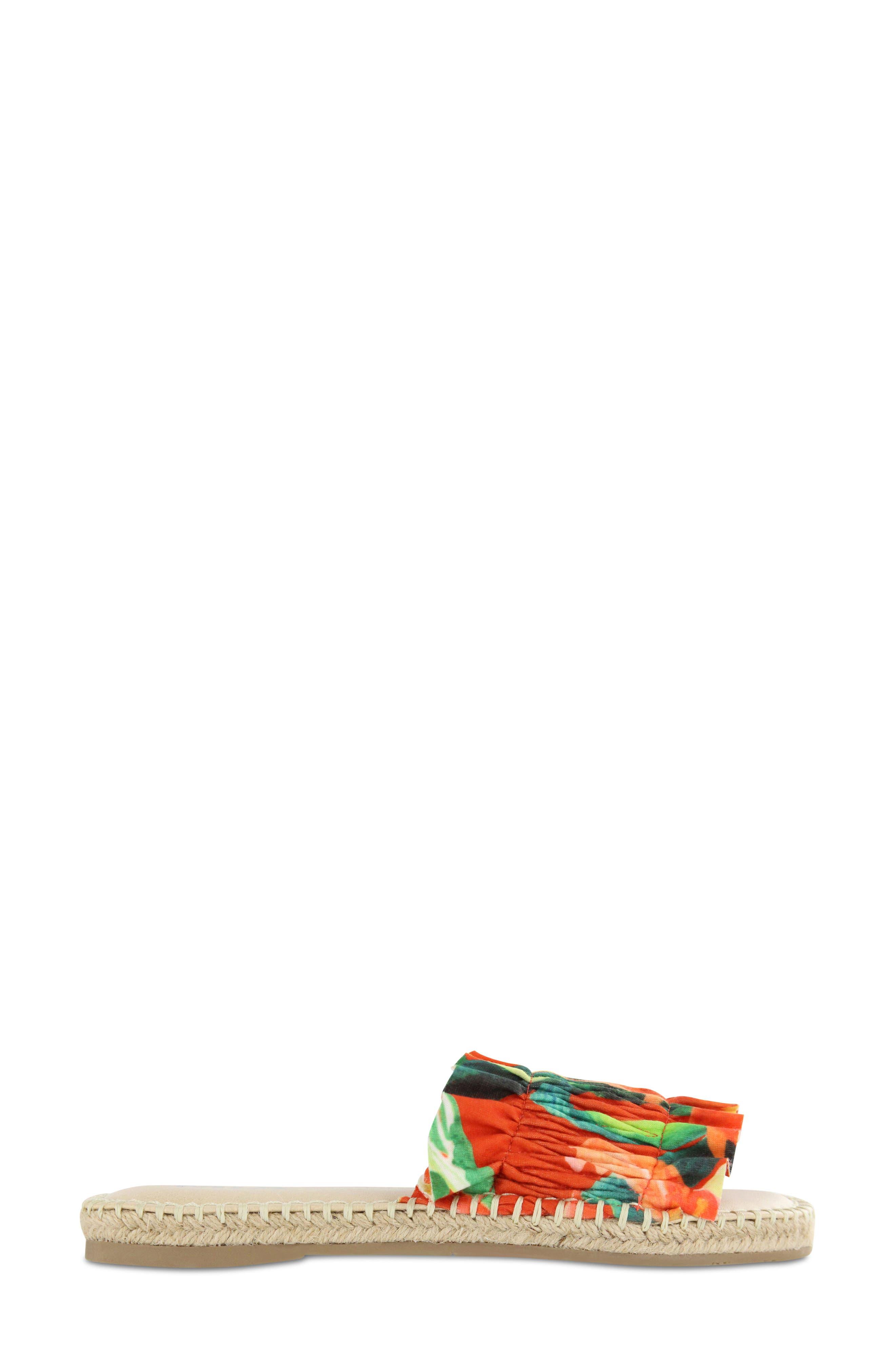 Annalise Sandal,                             Alternate thumbnail 3, color,                             Red Amazon Scrunch Fabric