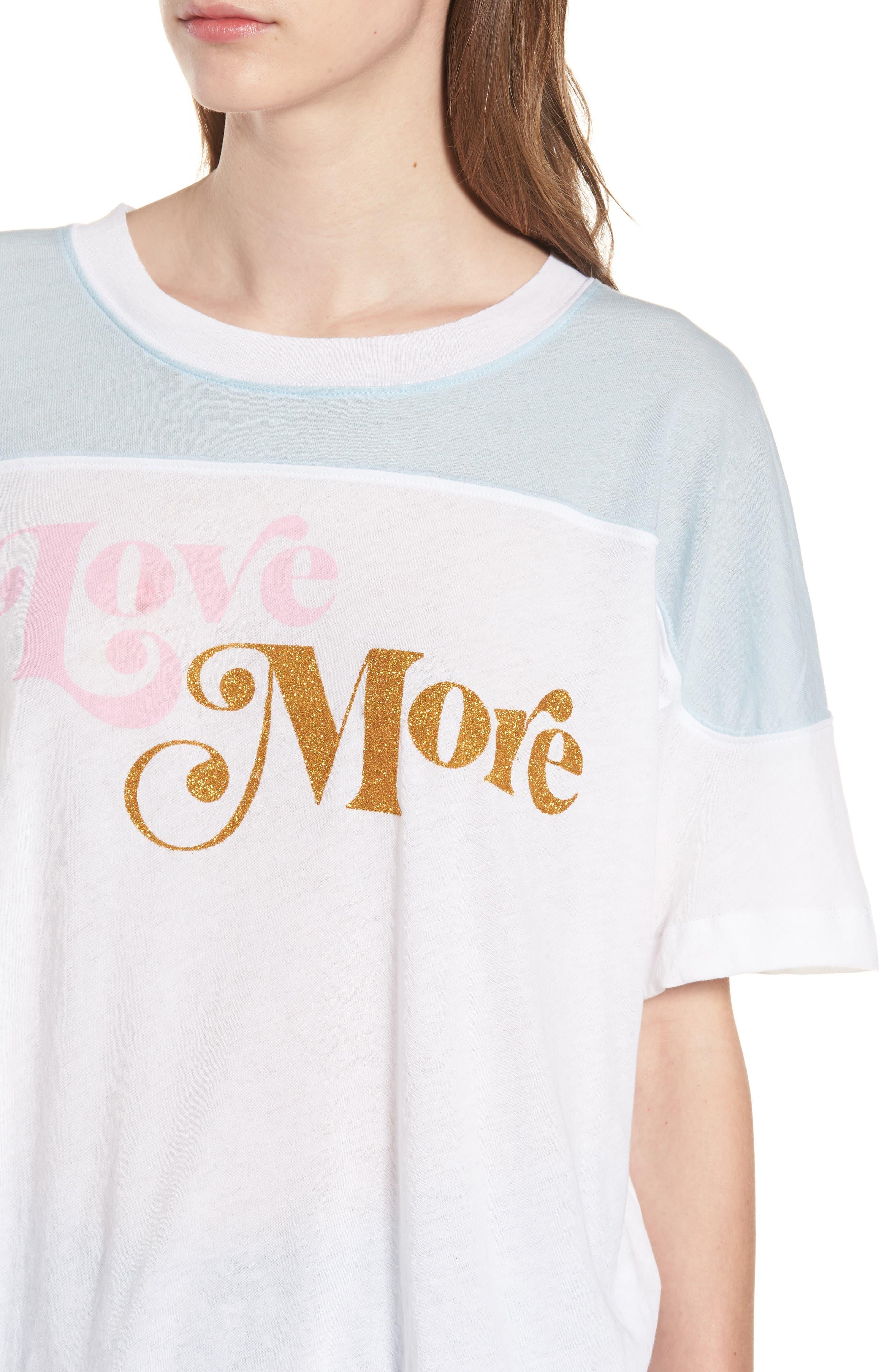 Love More - Samuel Tee,                             Alternate thumbnail 4, color,                             Clean White