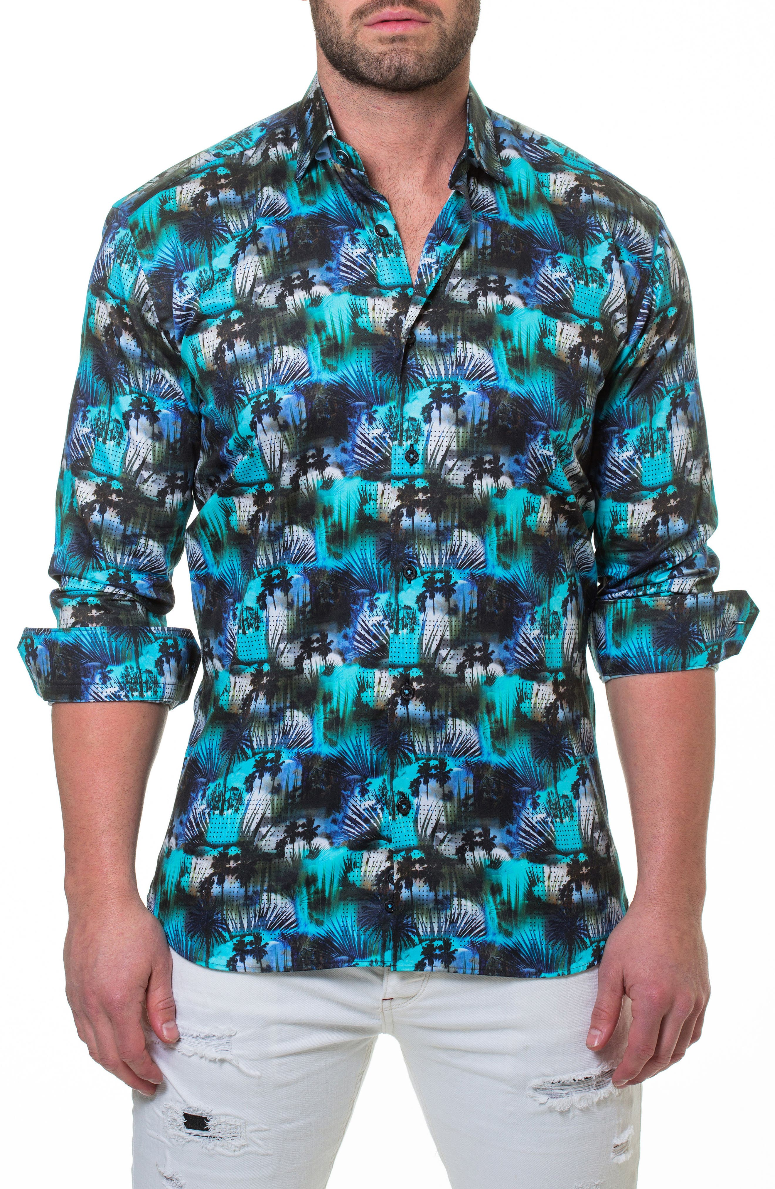 Luxor Miami Slim Fit Sport Shirt,                             Main thumbnail 1, color,                             Blue