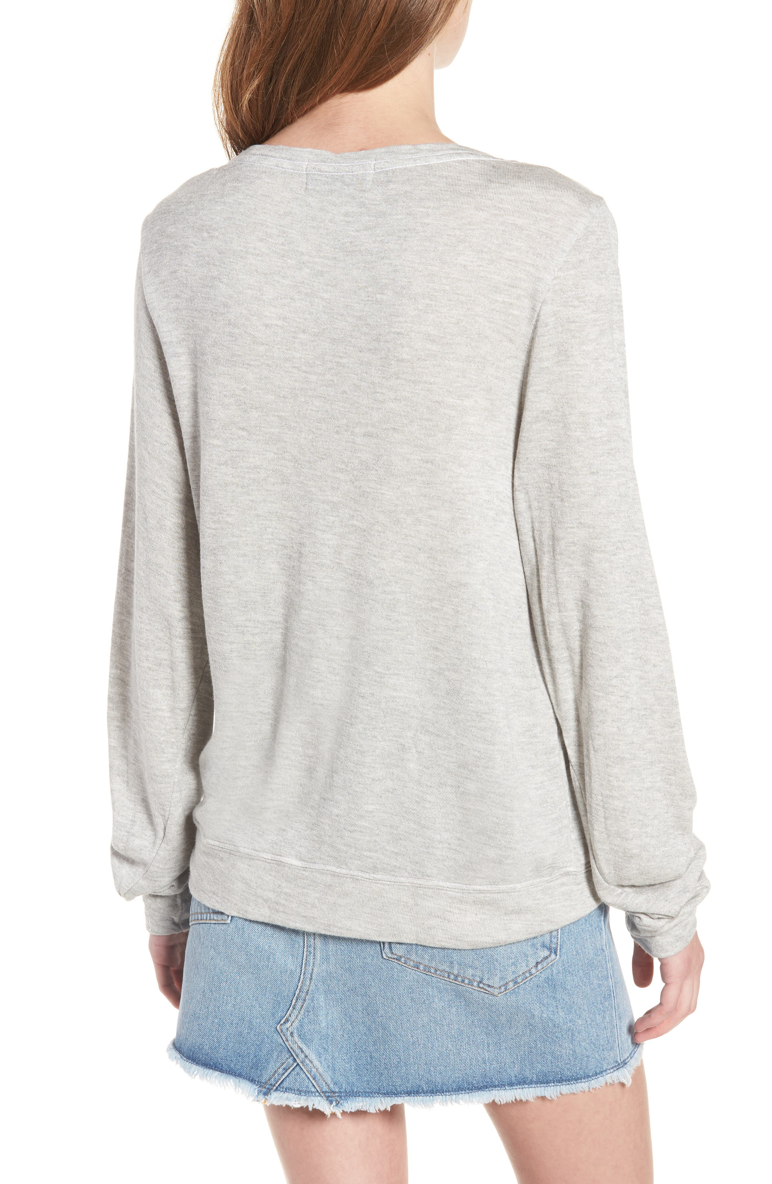 Dogs - Baggy Beach Jumper Pullover,                             Alternate thumbnail 2, color,                             Heather