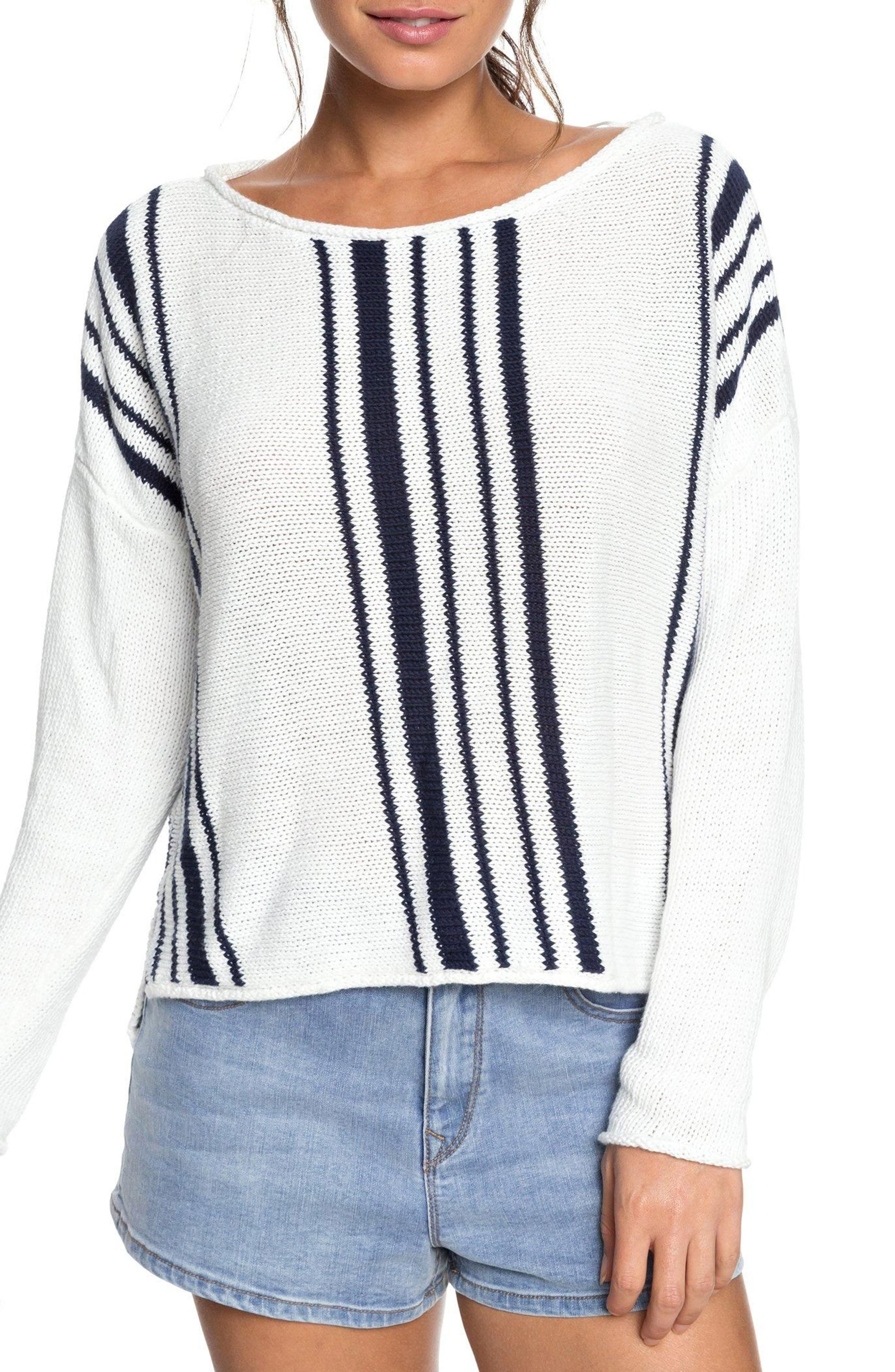 Roxy Monument Border Stripe Sweater
