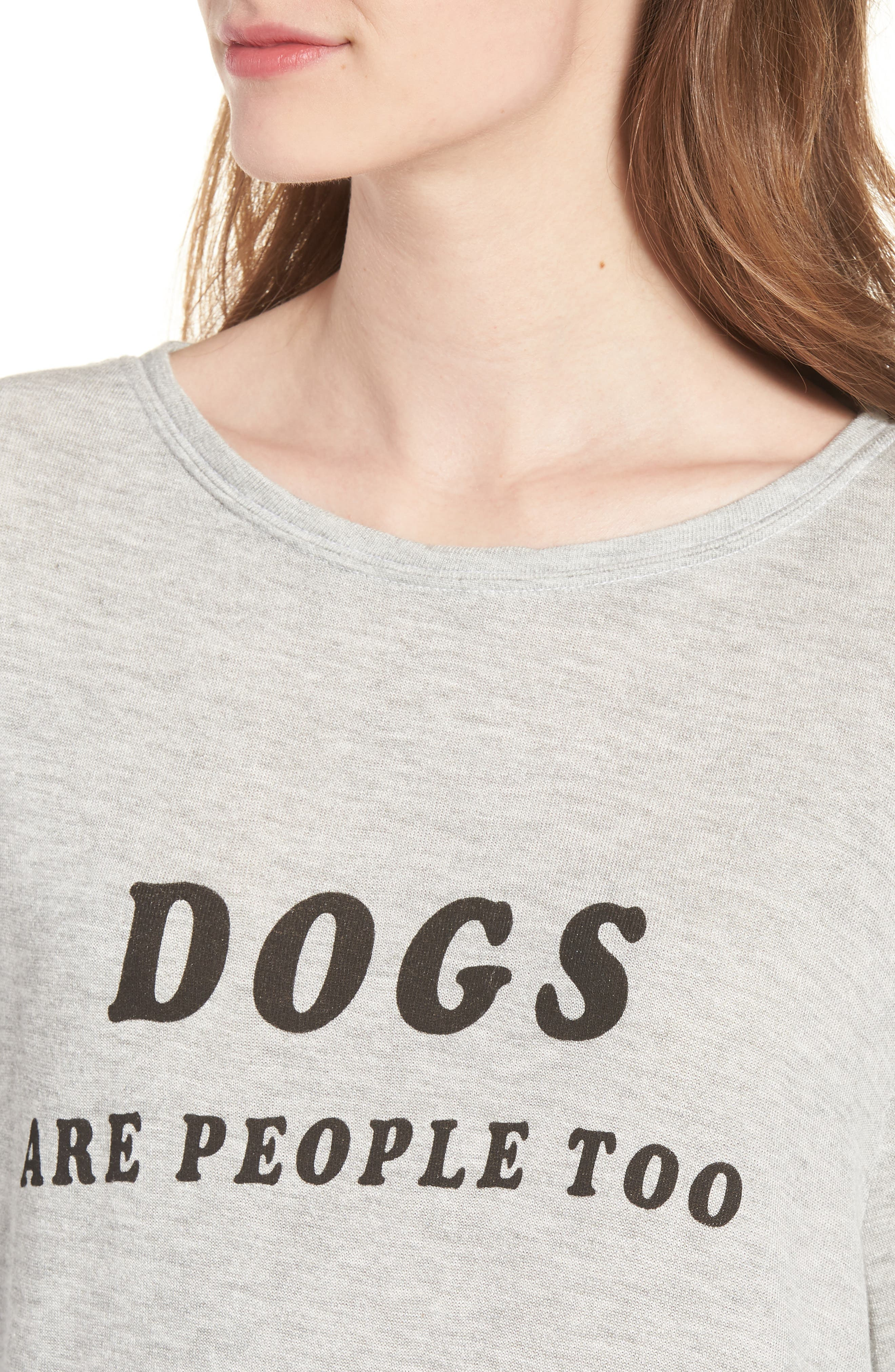 Dogs - Baggy Beach Jumper Pullover,                             Alternate thumbnail 4, color,                             Heather