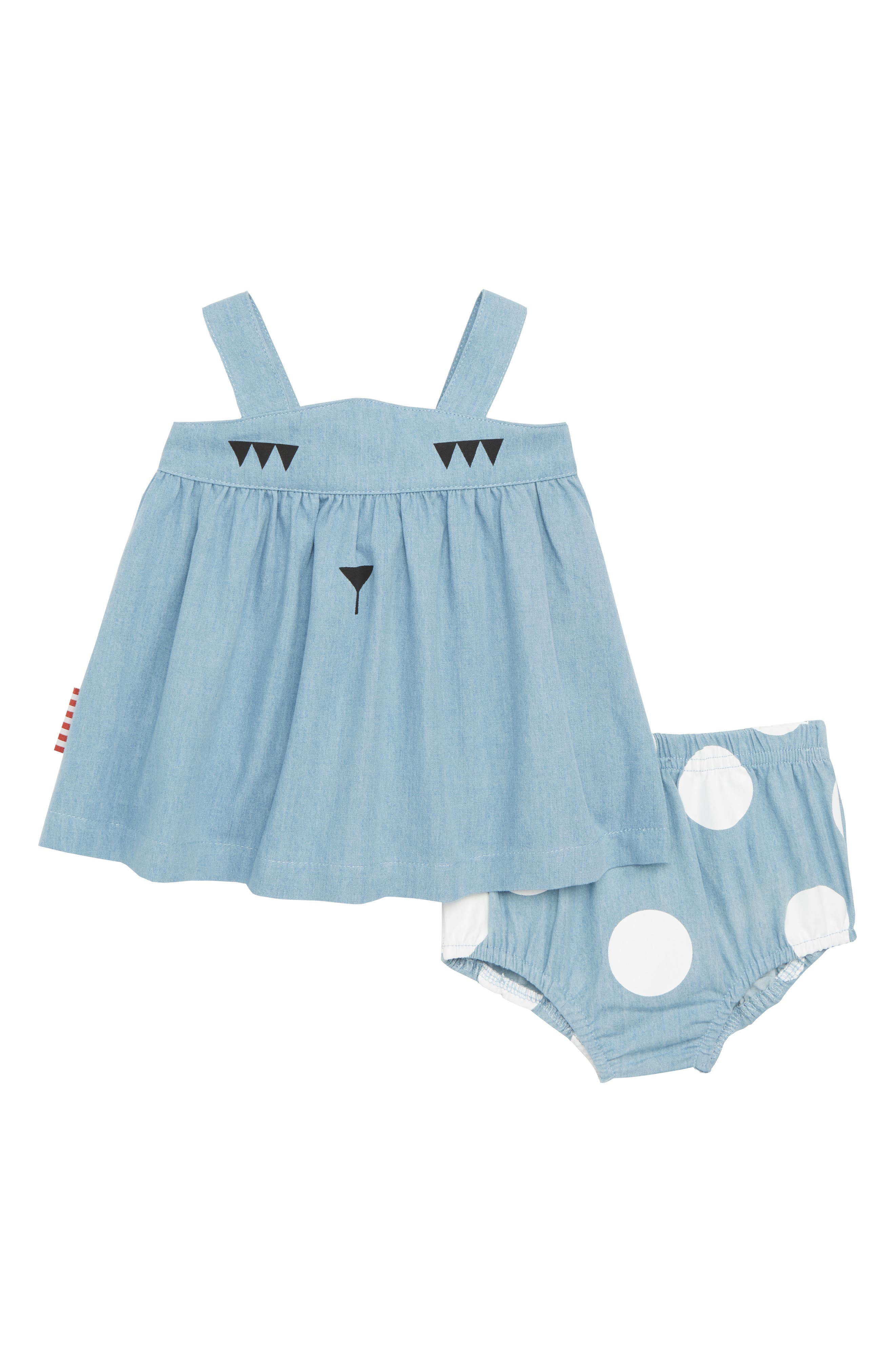 Swing Top & Bloomers Set,                         Main,                         color, Chambray