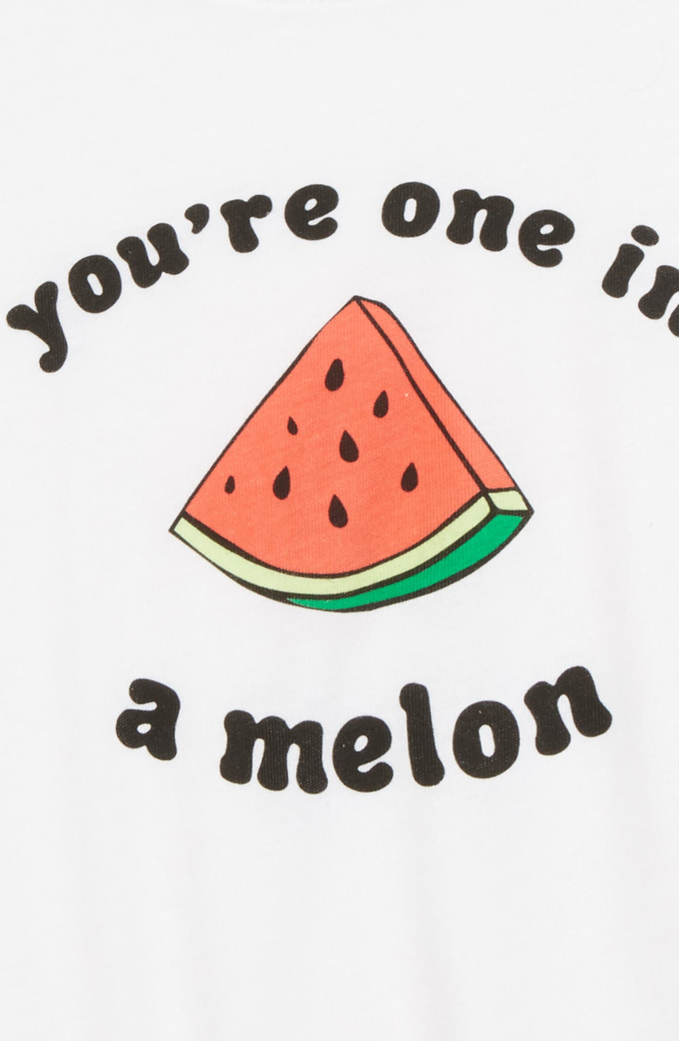 You're One in a Melon Tee,                             Alternate thumbnail 2, color,                             White