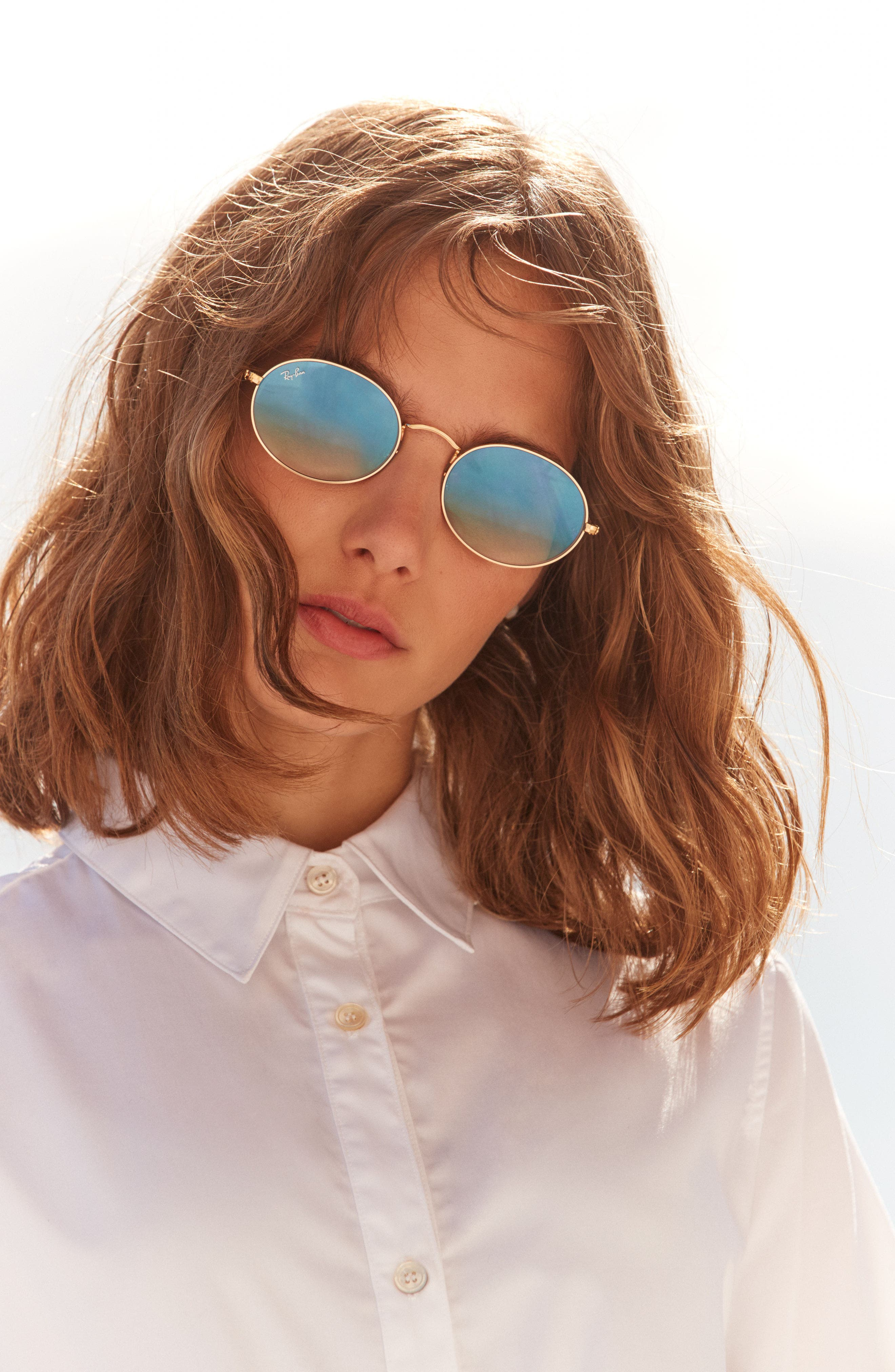 54mm Oval Sunglasses,                             Alternate thumbnail 4, color,
