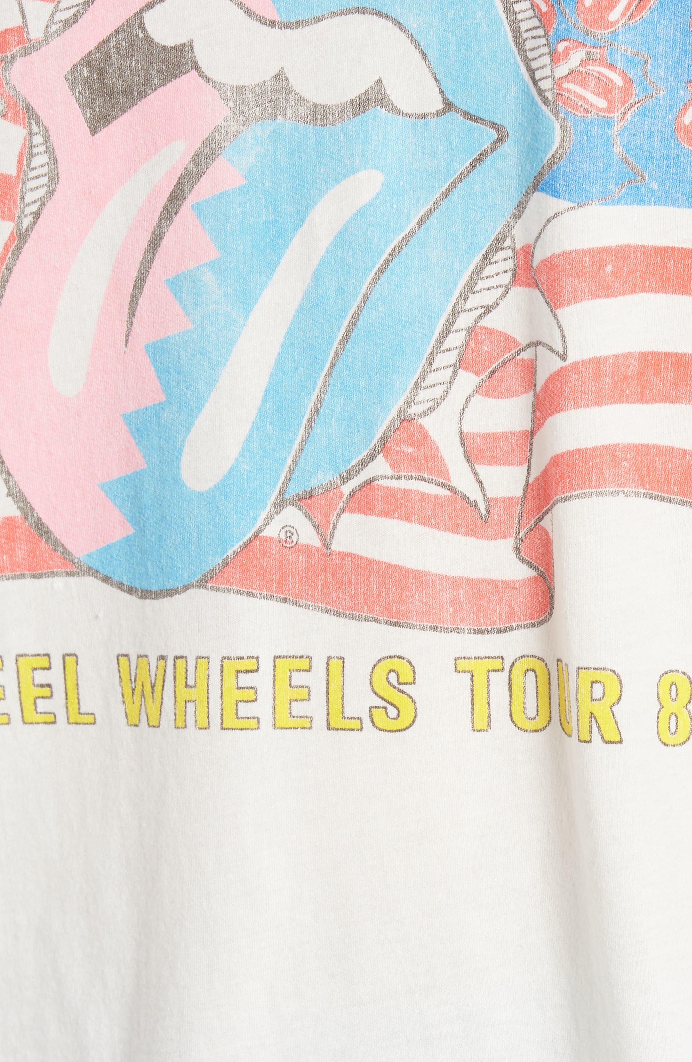 Rolling Stones Boyfriend Tee,                             Alternate thumbnail 6, color,                             Vintage White