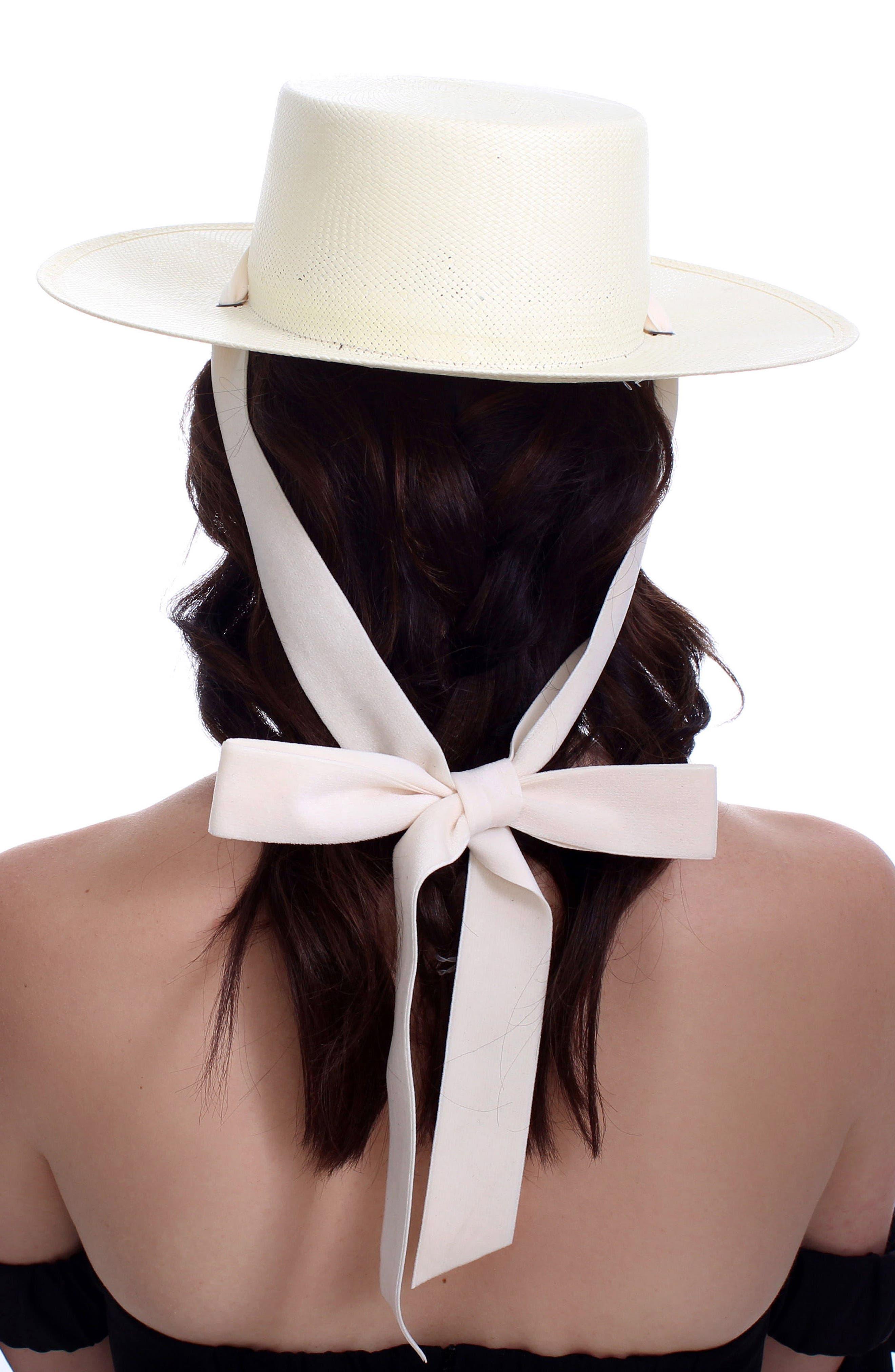 The Heiress Straw Bolero Hat,                             Alternate thumbnail 2, color,                             Ivory