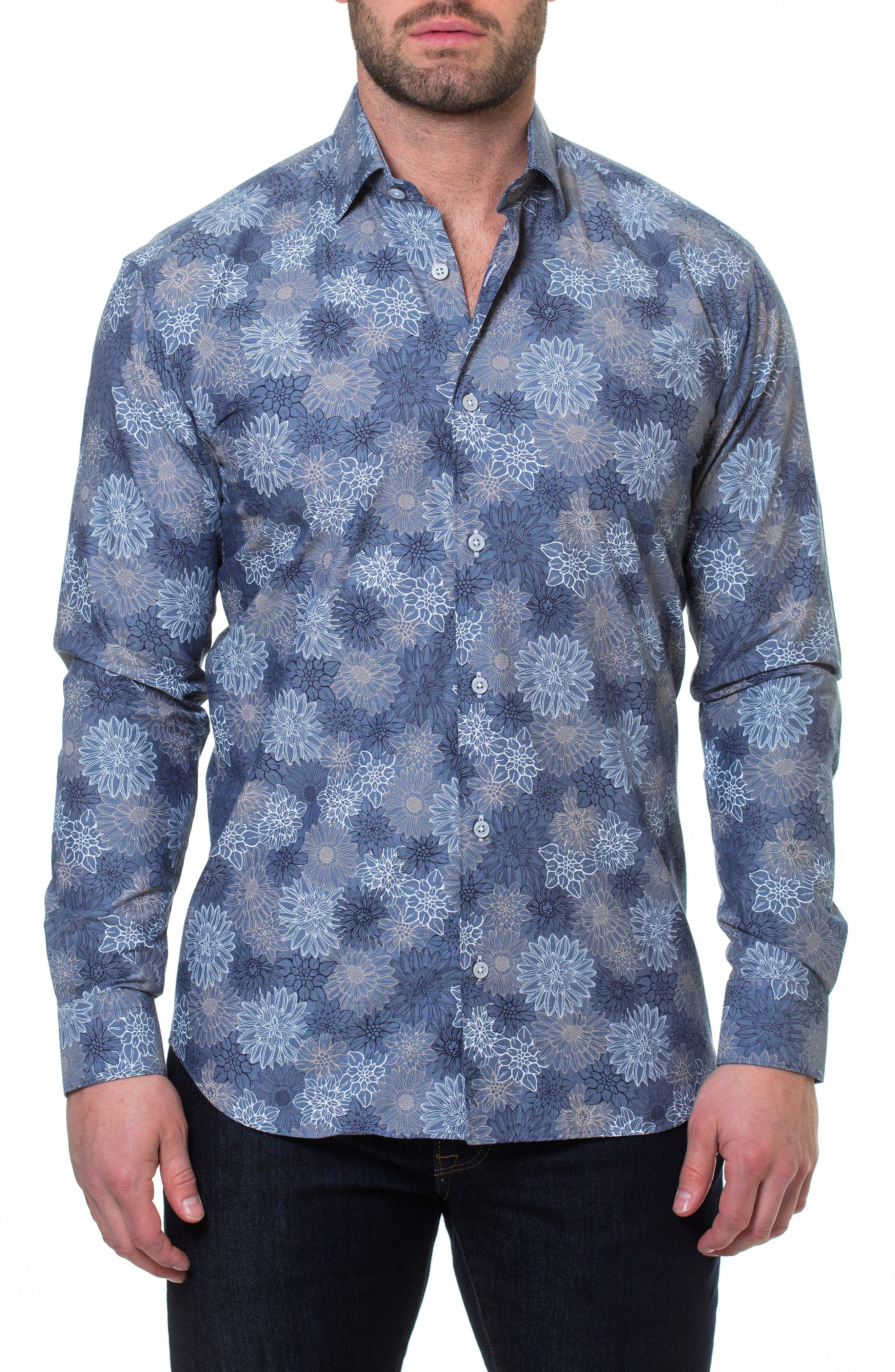 Luxor Mary Slim Fit Sport Shirt,                             Main thumbnail 1, color,                             Blue