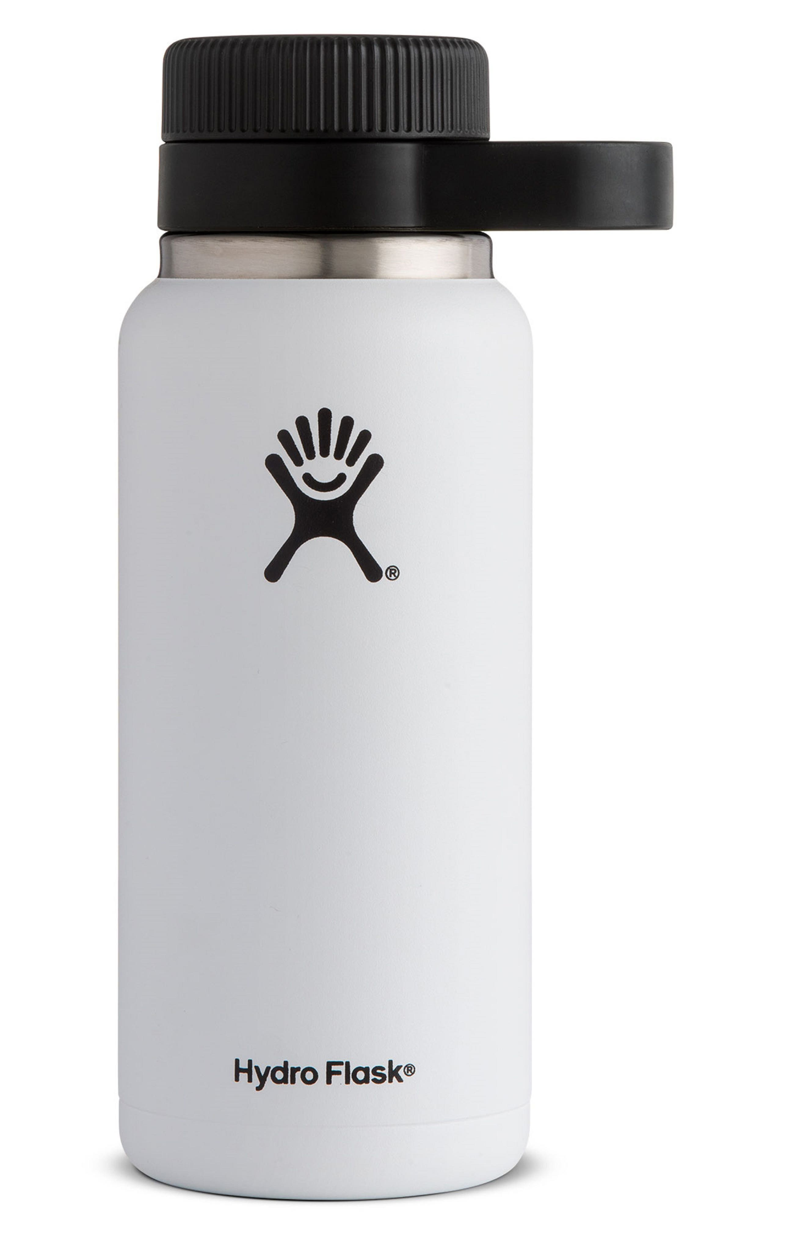 32-Ounce Wide Mouth Growler,                         Main,                         color, White