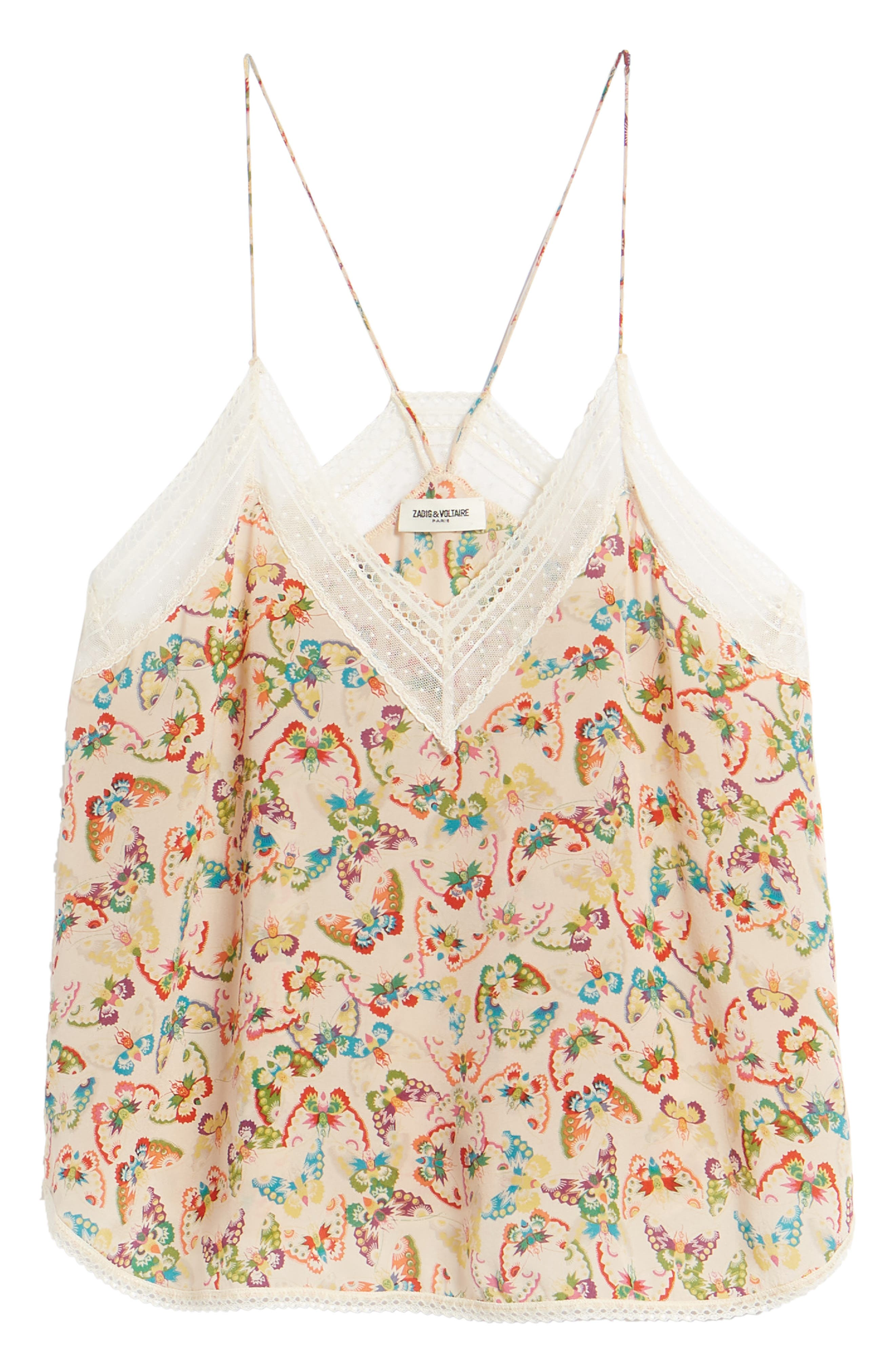 Alternate Image 6  - Zadig & Voltaire Christy Butterfly Silk Camisole