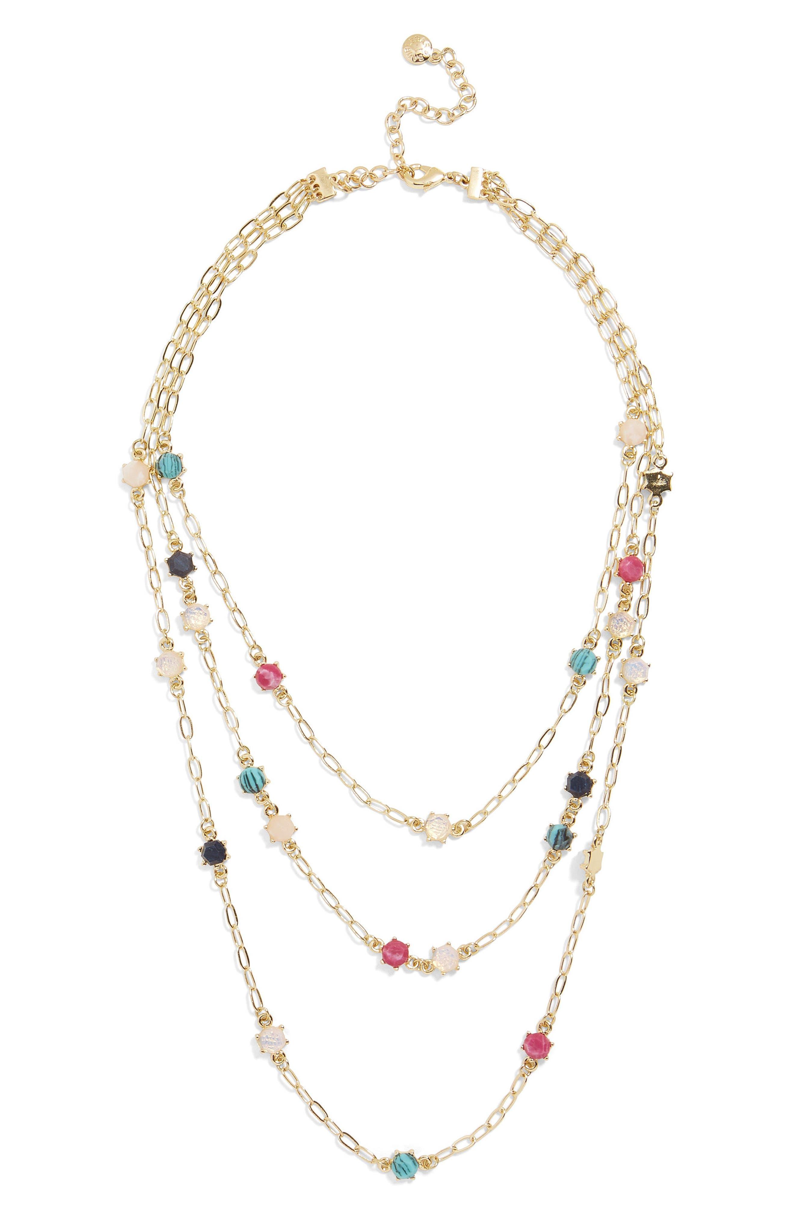 Luzetta Layered Necklace,                         Main,                         color, Multi
