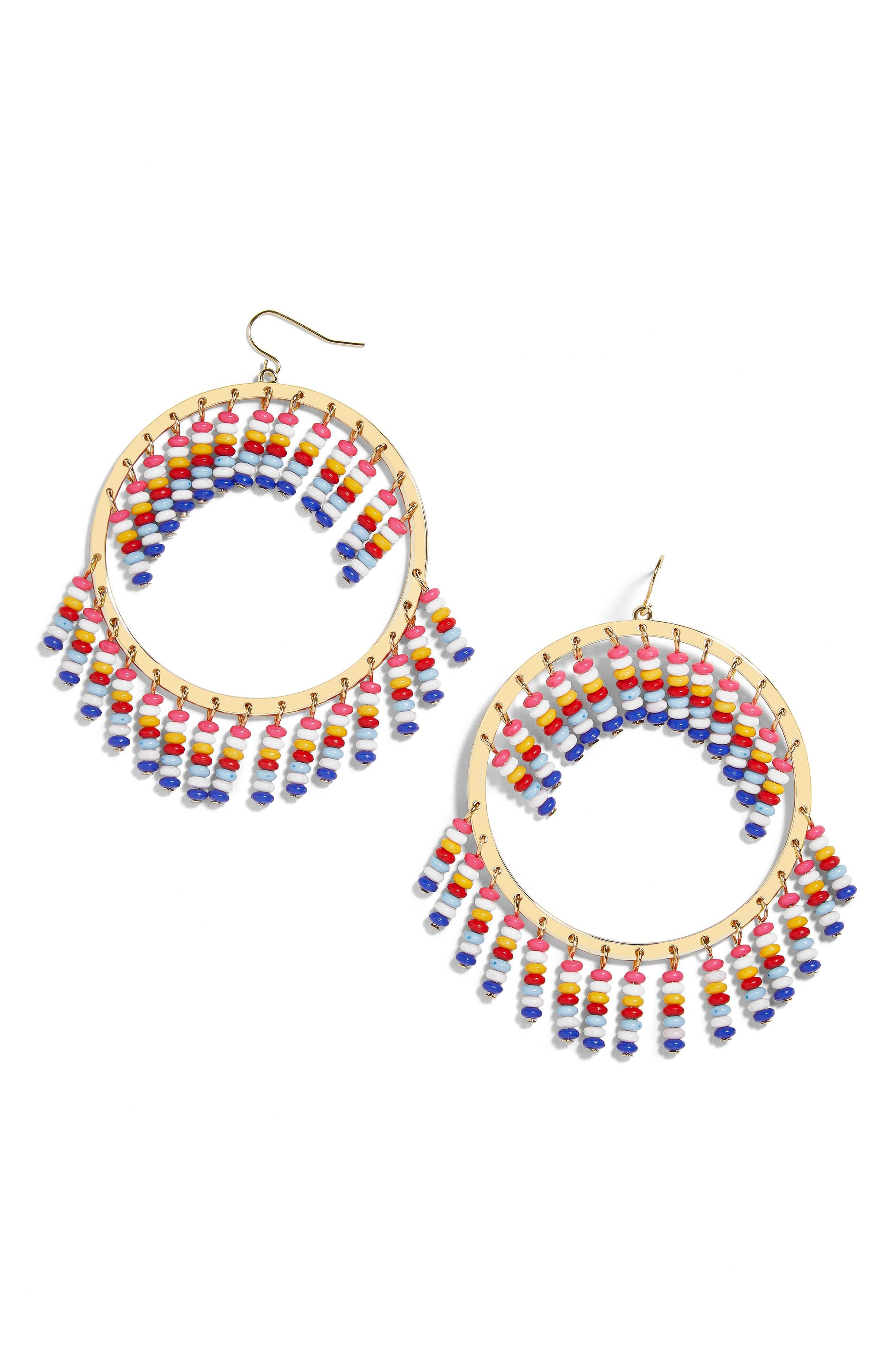 Mazarine Hoop Earrings,                         Main,                         color, Multi