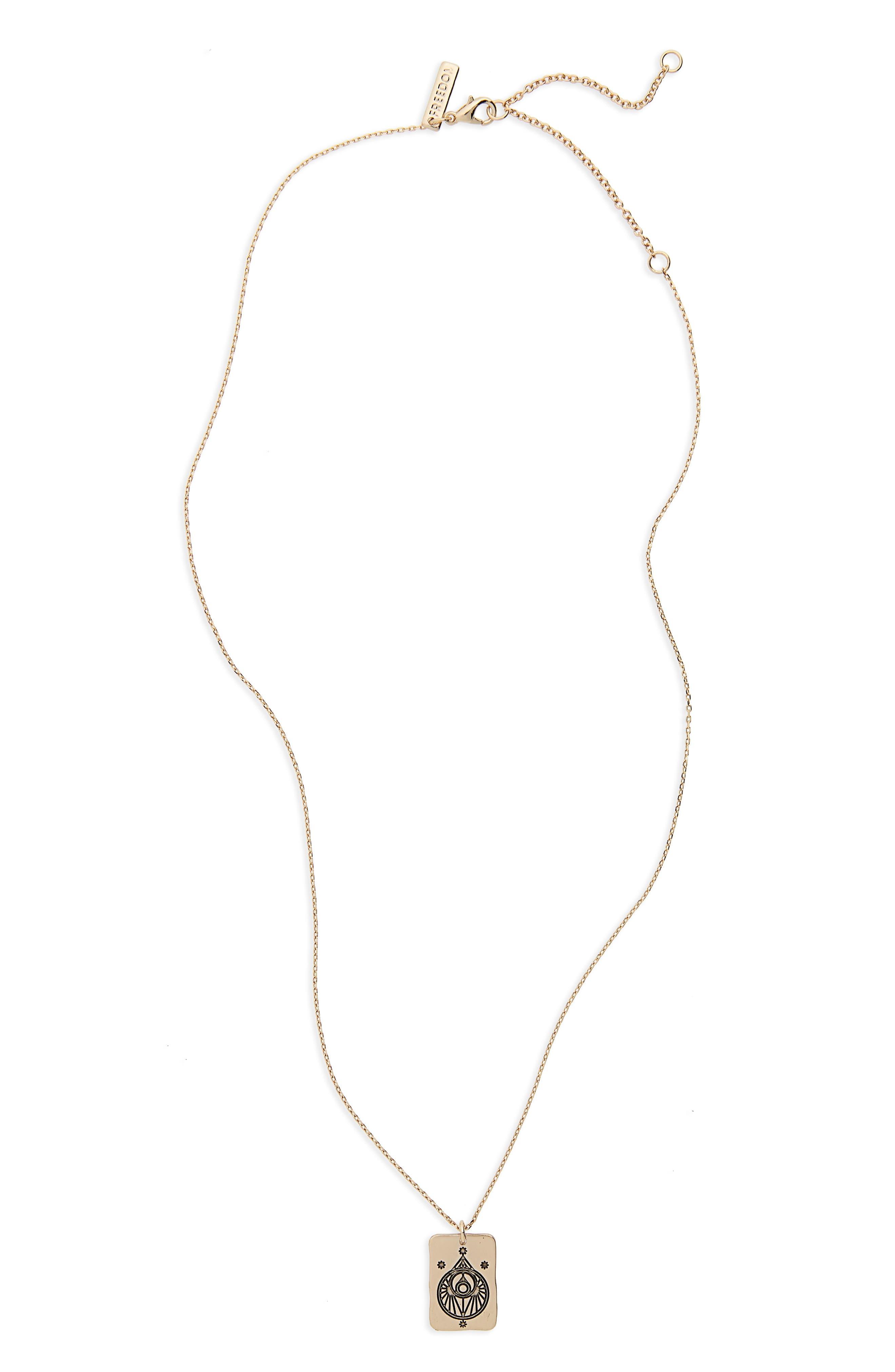Tarot Magic Necklace,                         Main,                         color, Gold